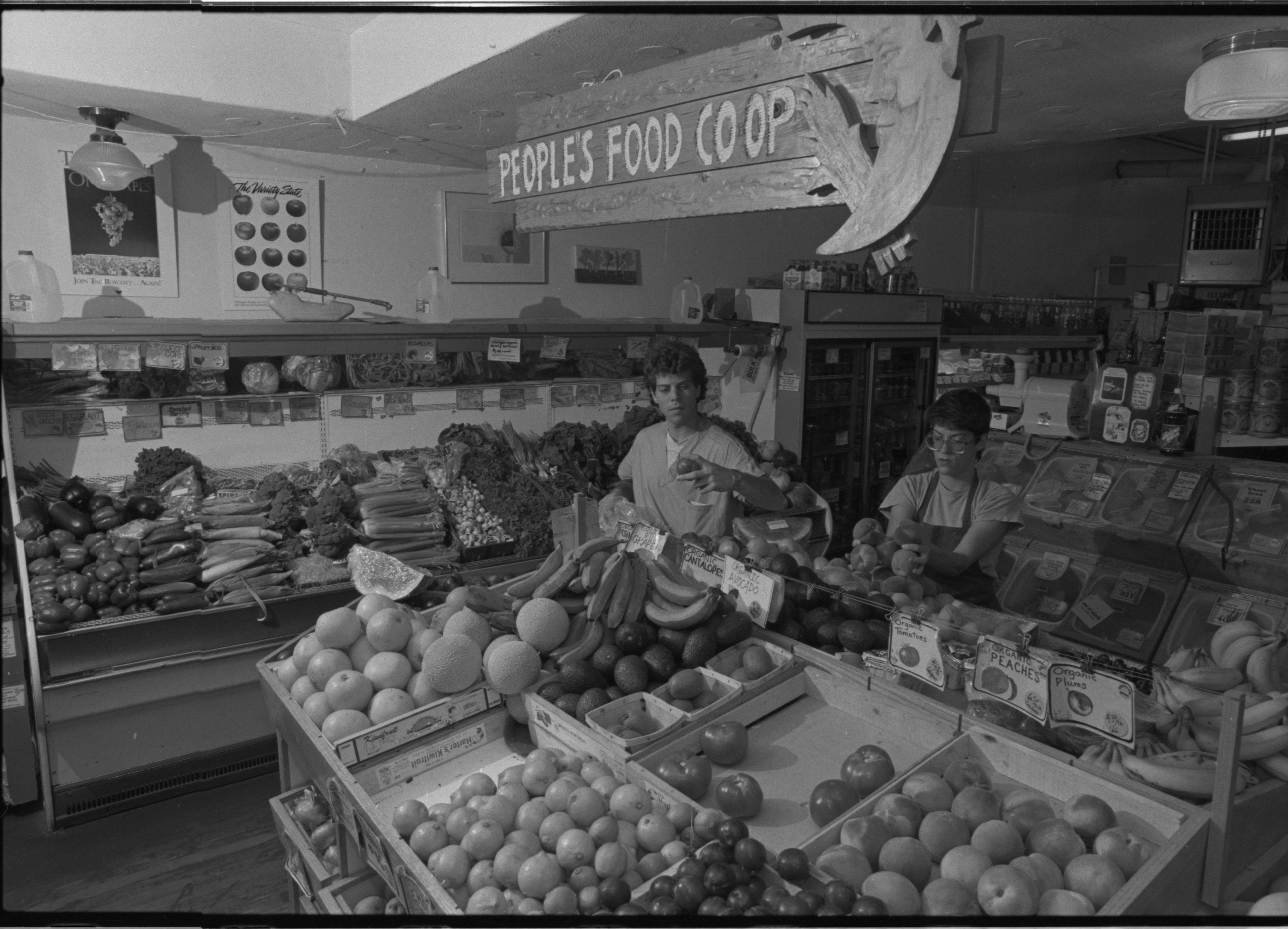 People's Food Co-op Anchors 4th Avenue, July 1990 image