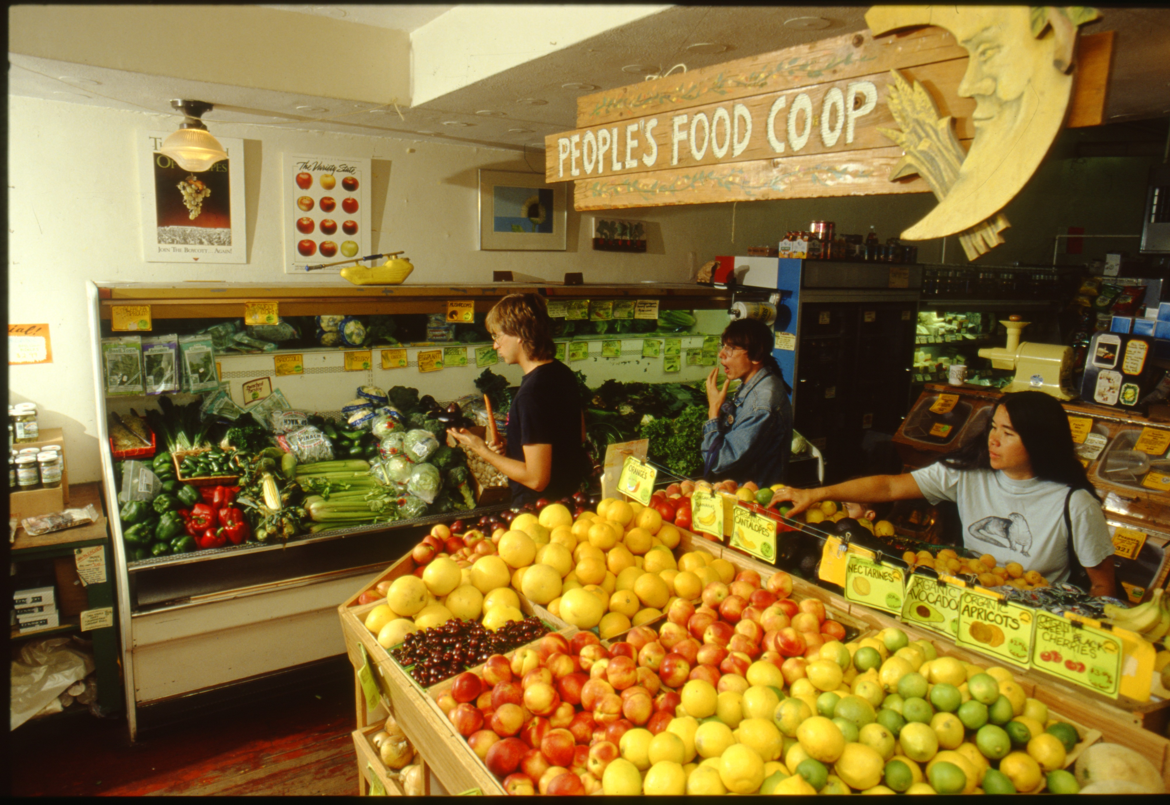Fresh Produce at People's Food Co-op, July 1990 image