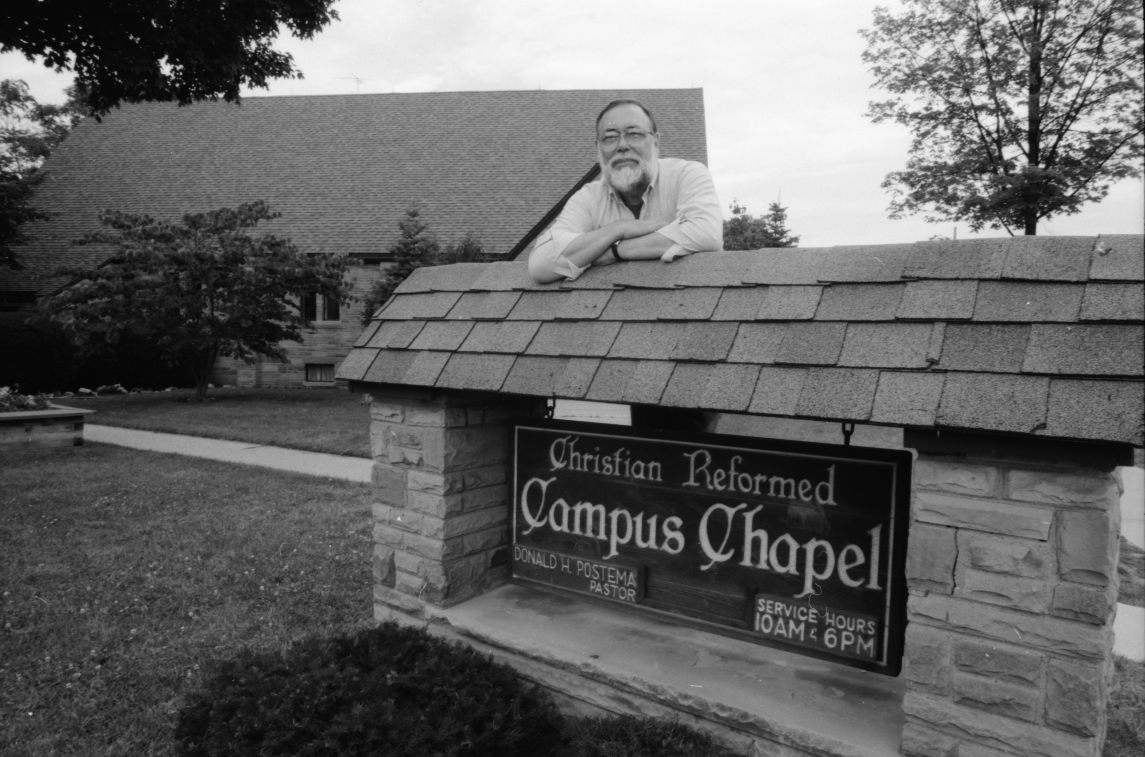 Donald H. Postema at Christian Reformed Church's Campus Chapel, July 1990 image
