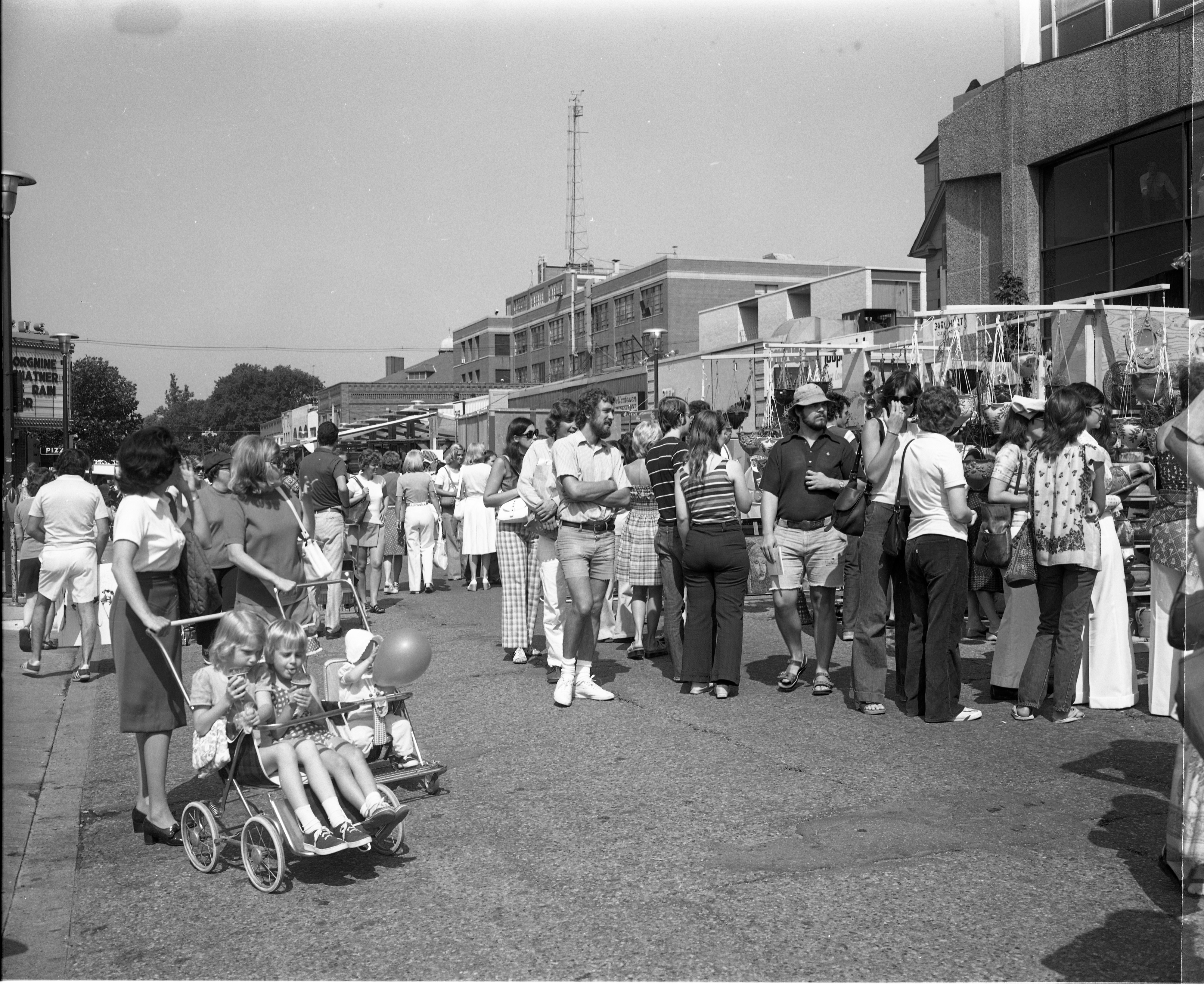 Crowds At The Ann Arbor Art Fair, July 17, 1975 image