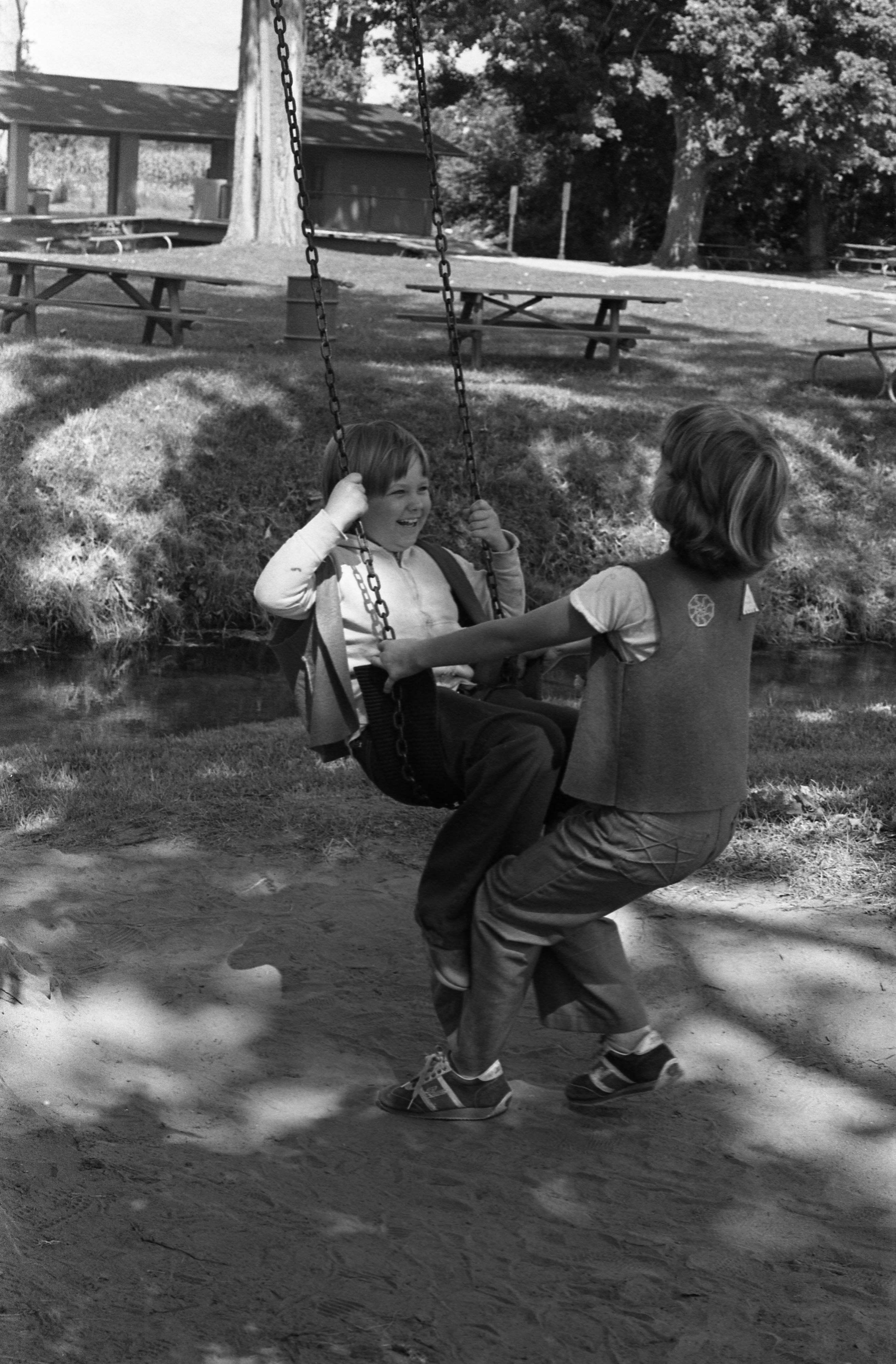 Camp Fire Girls Play At Moose Campgrounds, August 1979 image