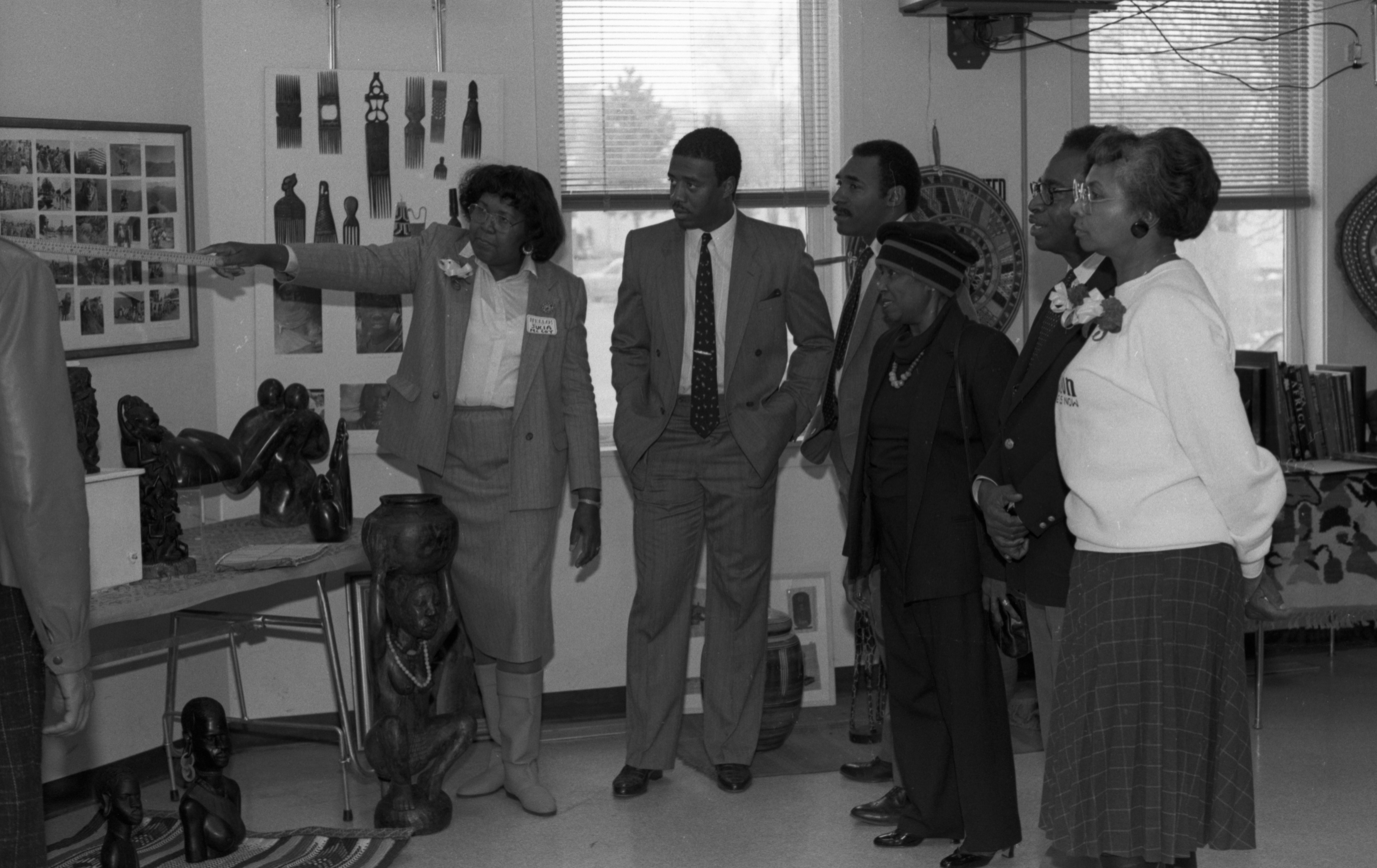 Group Viewing Display for Black History Fair at Parkridge Community Center, February 1988 image