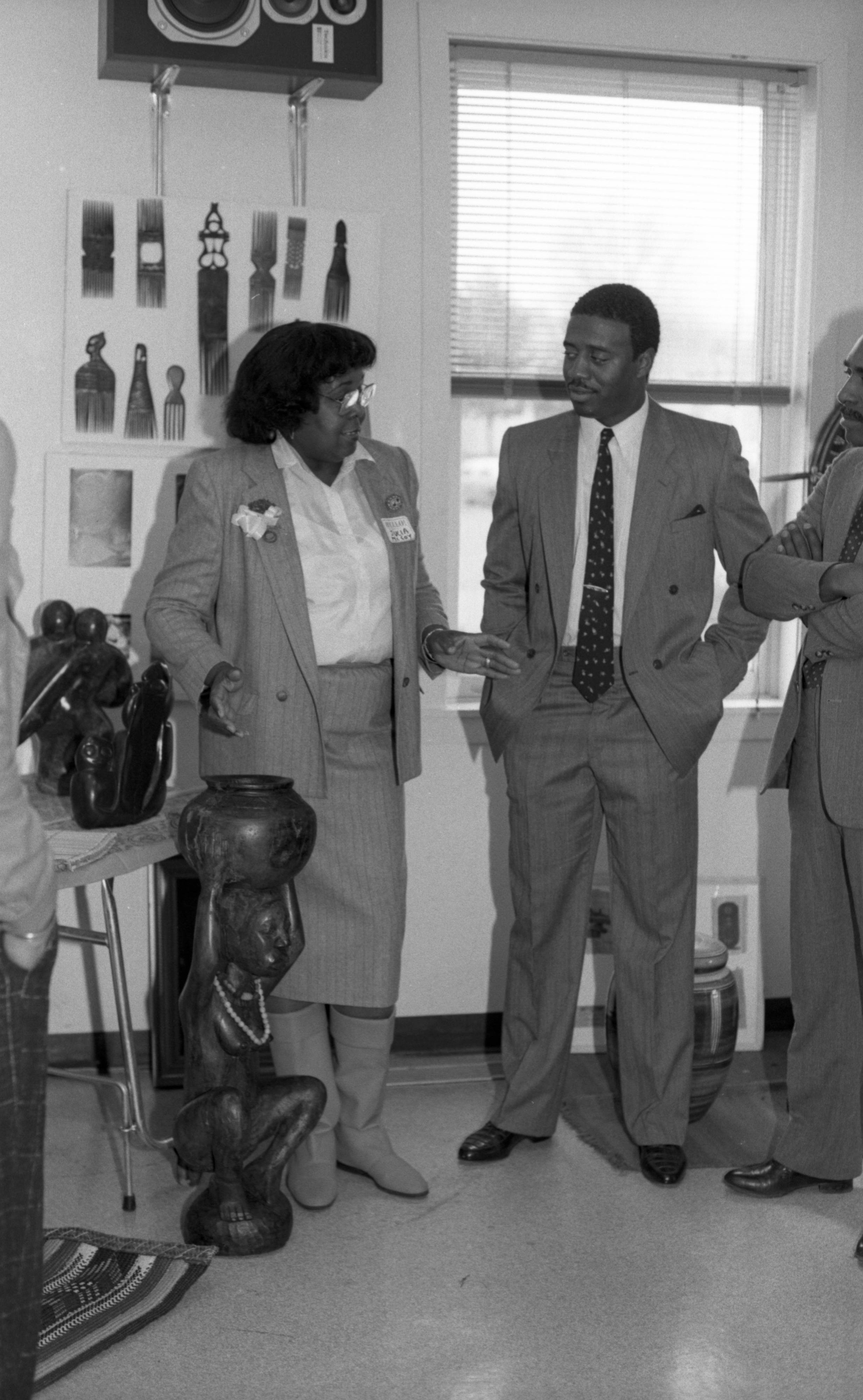 Discussing Display for Black History Fair at Parkridge Community Center, February 1988 image