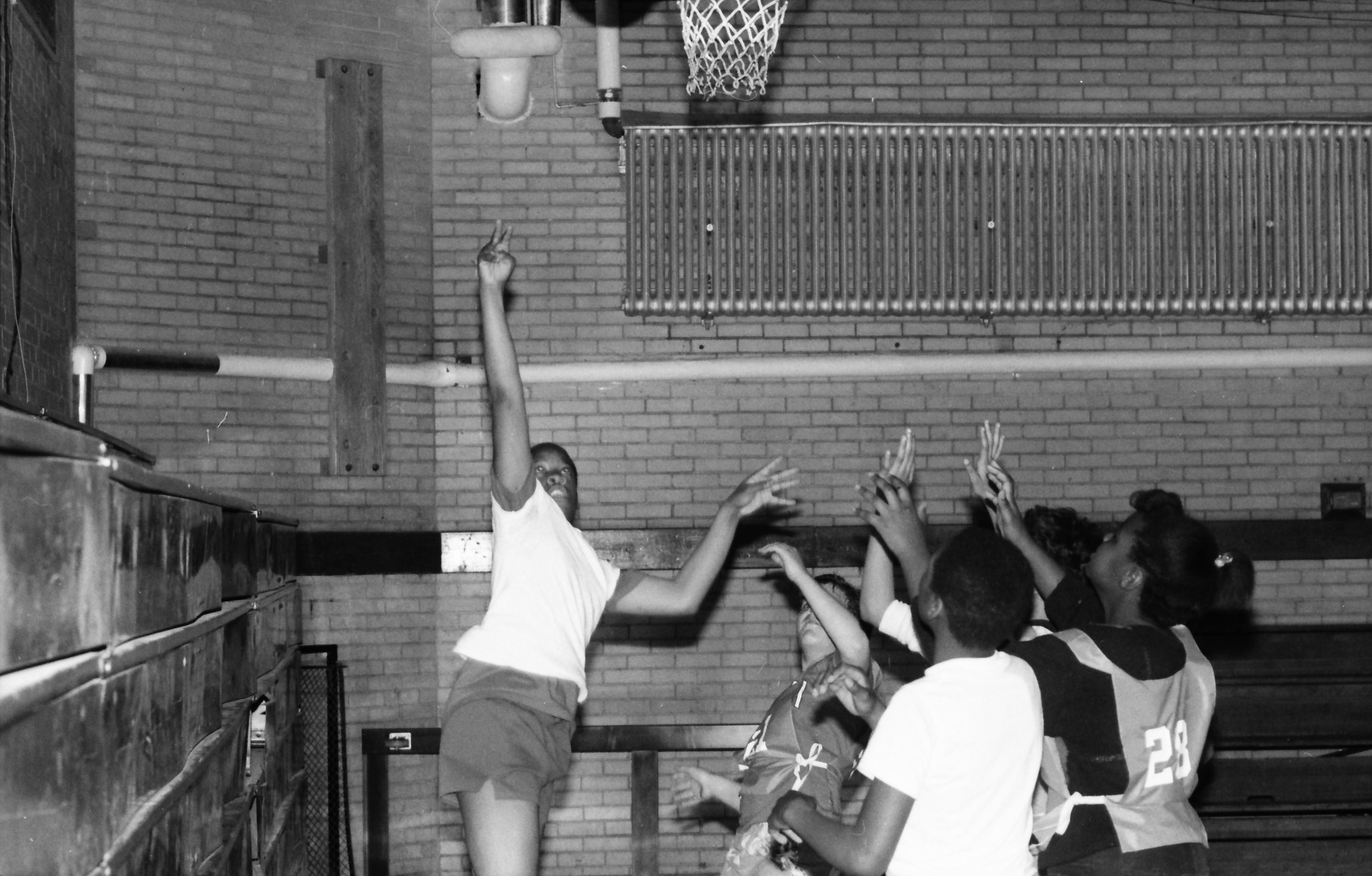 Parkridge Basketball League at Ypsilanti High School, March 1986 image