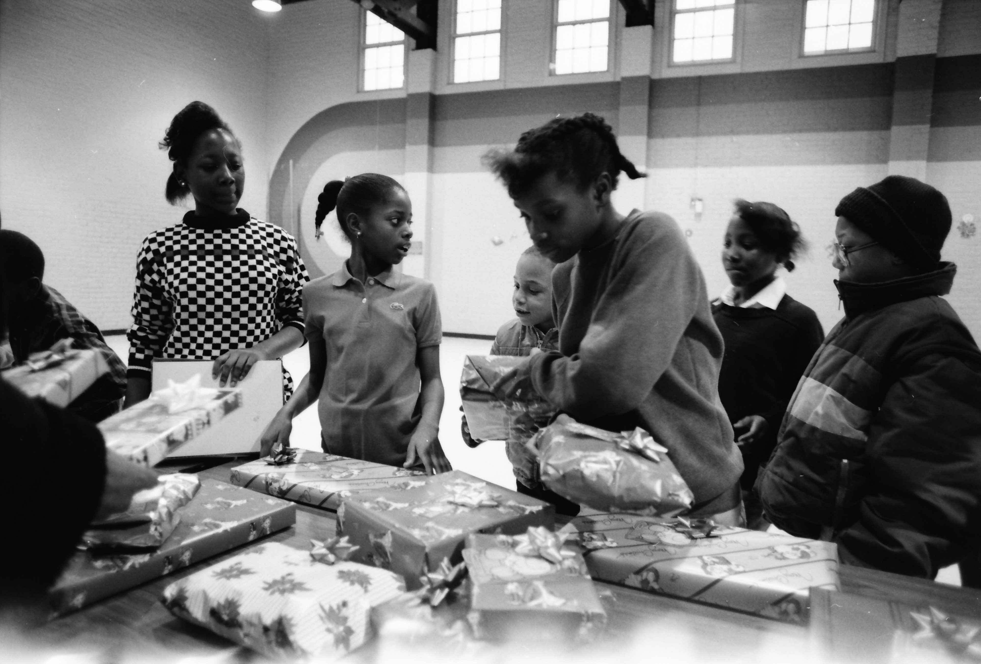 Christmas Gift Exchange at Parkridge Community Center, December 1988 image