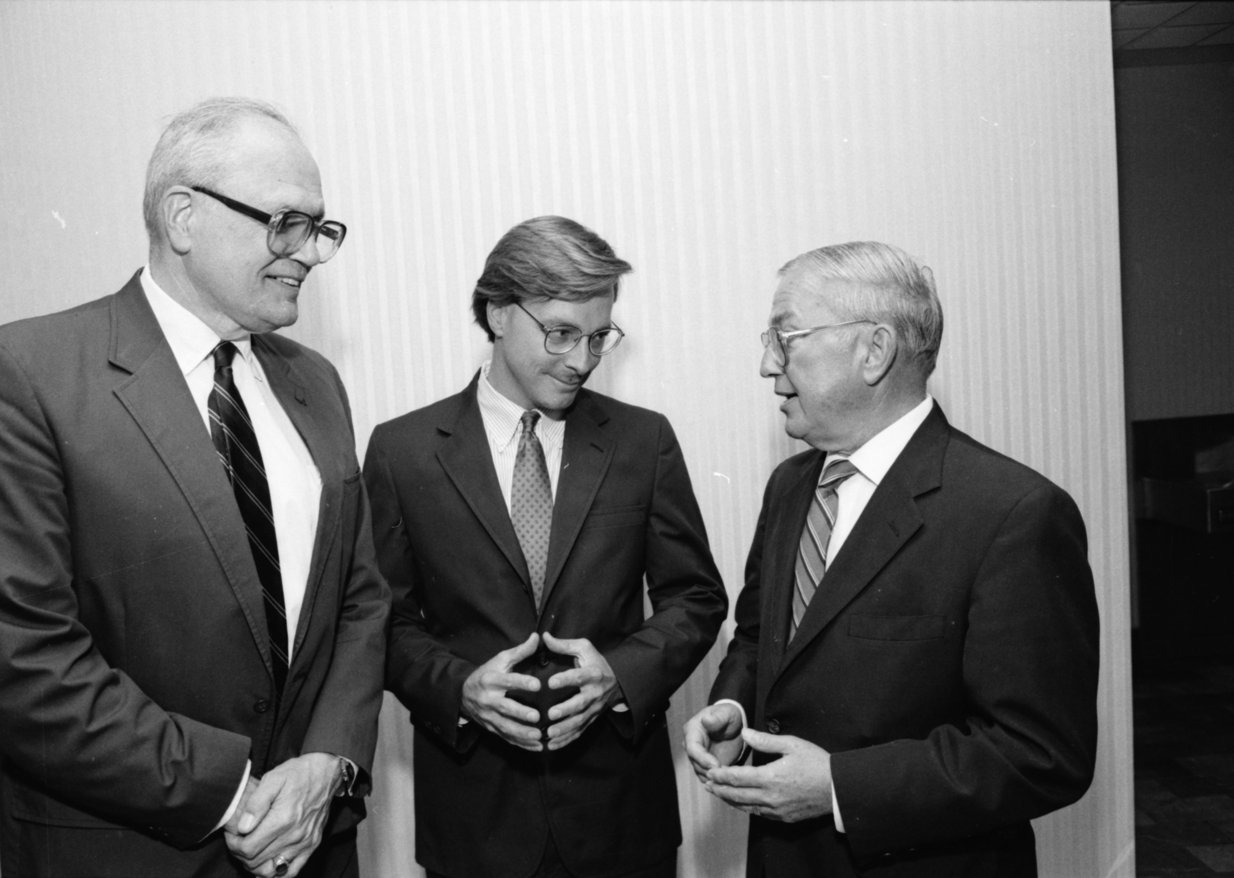 Ford, Bowman and John Dingell, May 1990 image