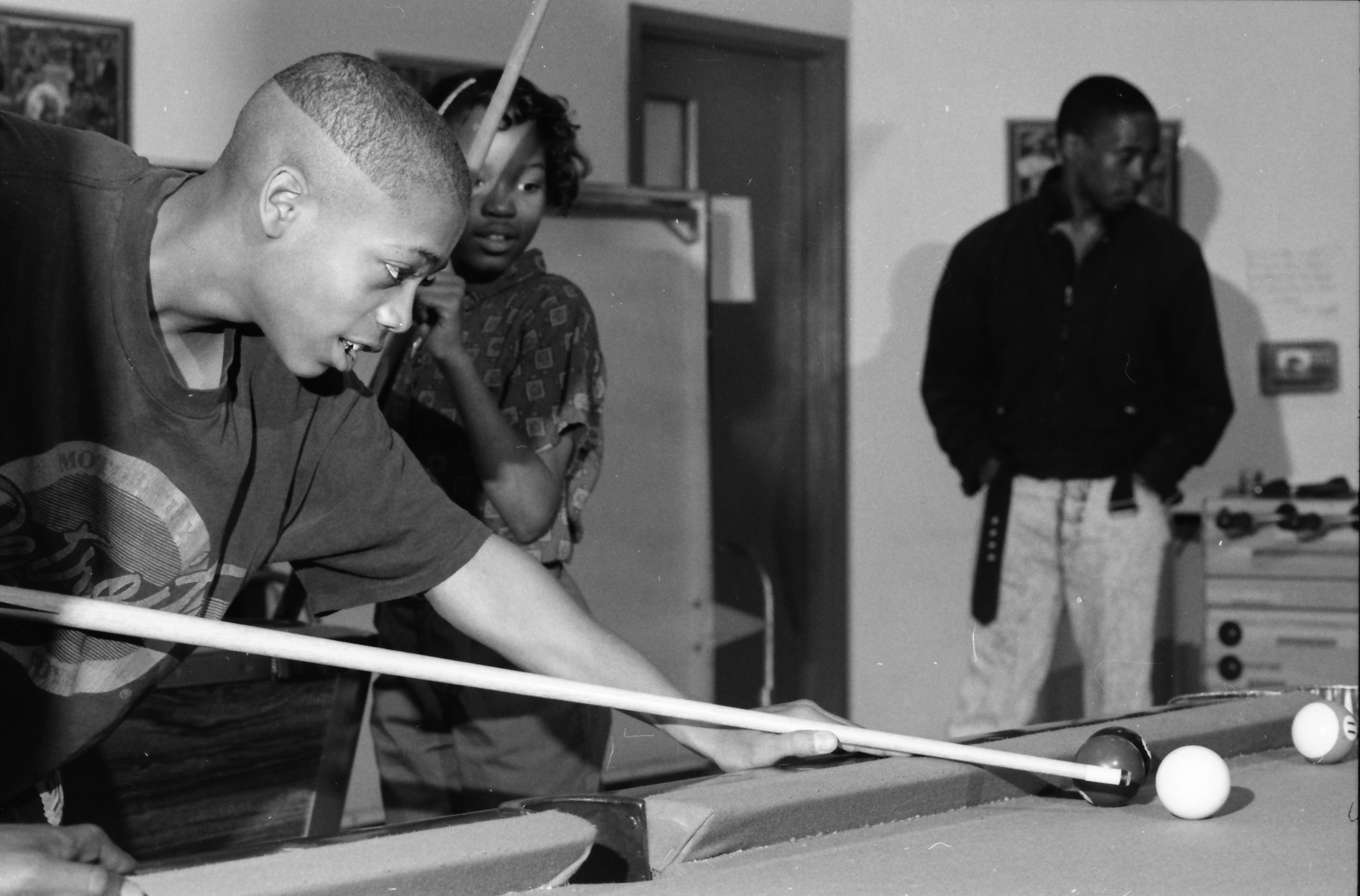 Playing Pool at Parkridge Community Center, April 1991 image