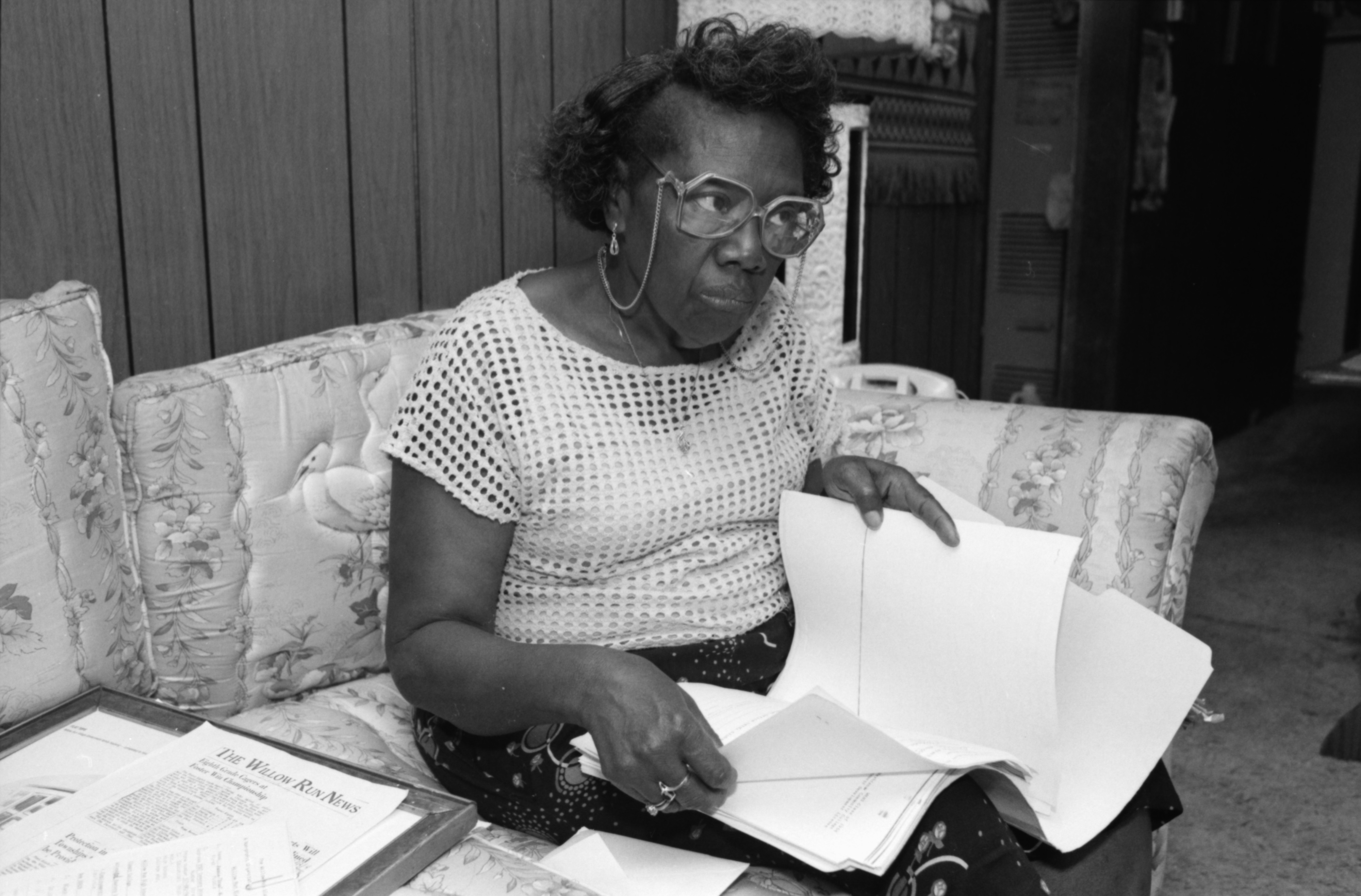 Tessie Freeman Shares Willow Run Black History, July 1991 image