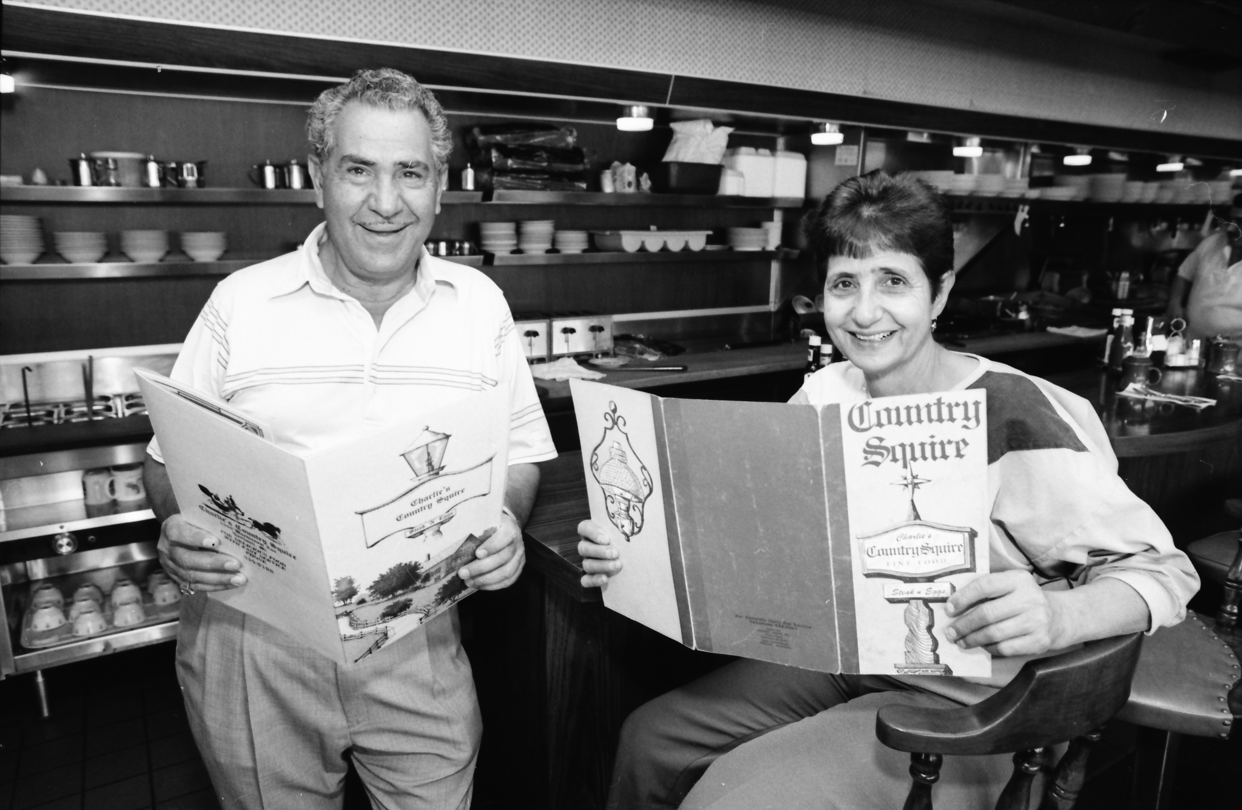 Charlie and Pat Philippou at Country Squire, June 1992 image