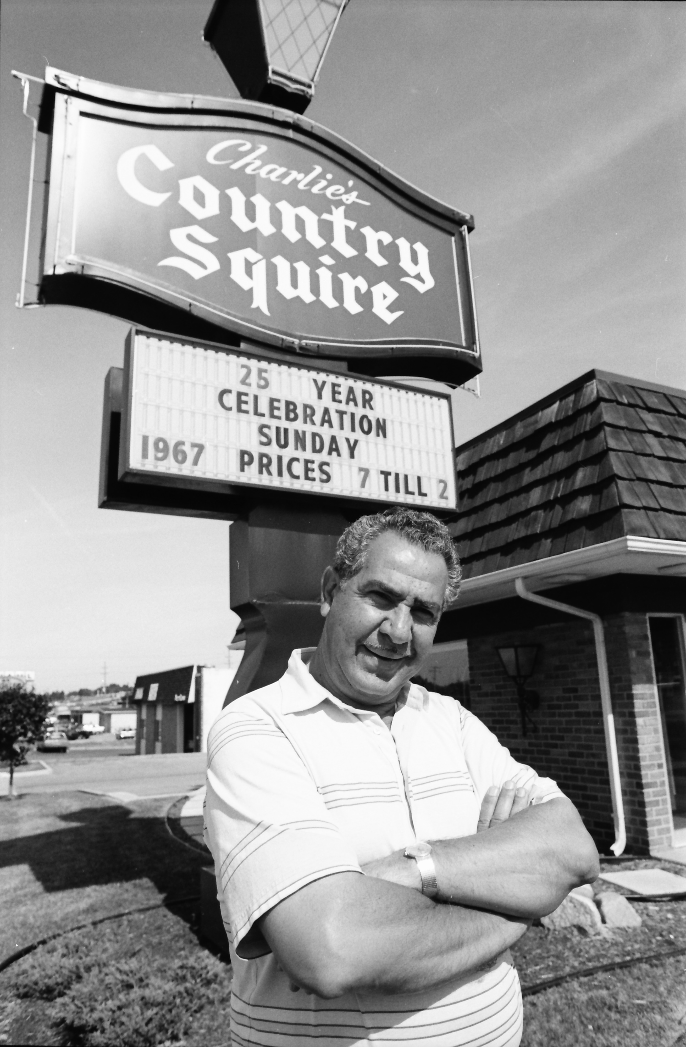 Charlie Philippou Celebrates 25 Years at Country Squire, June 1992 image
