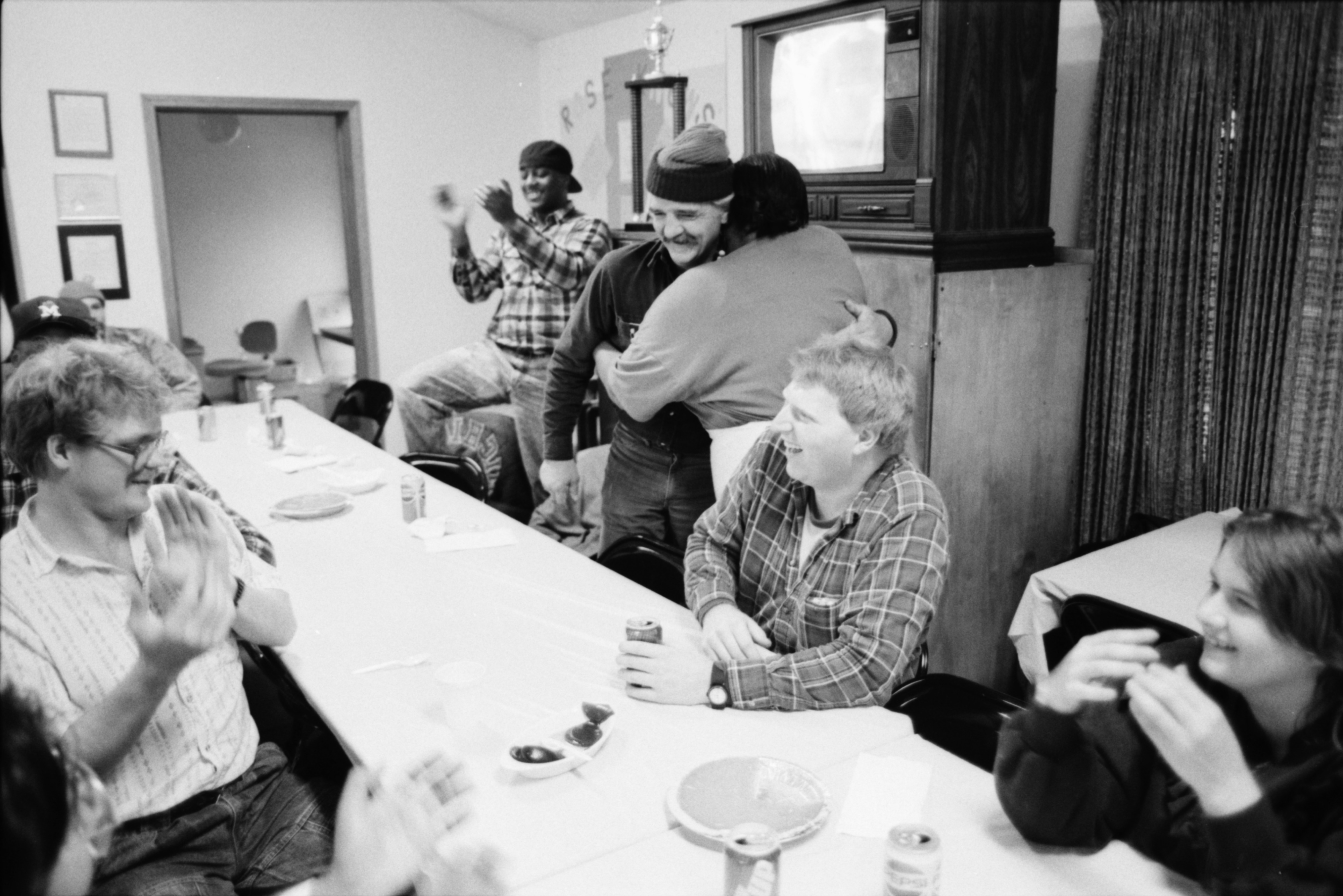 Rose Martin Greets Thanksgiving Guests At Peace Neighborhood Center, November 1991 image