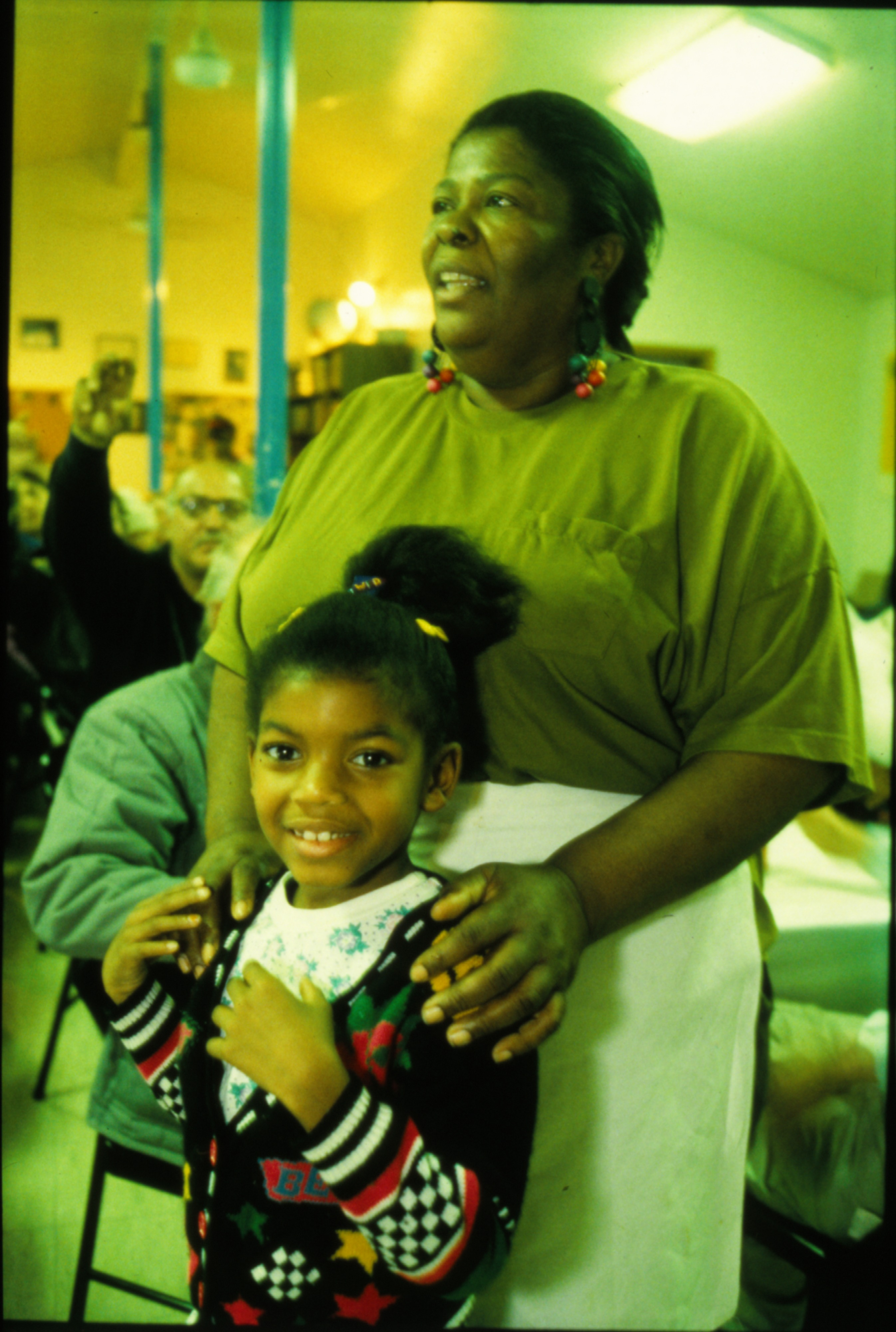 Thanksgiving Guest At Peace Neighborhood Center, November 1991 image