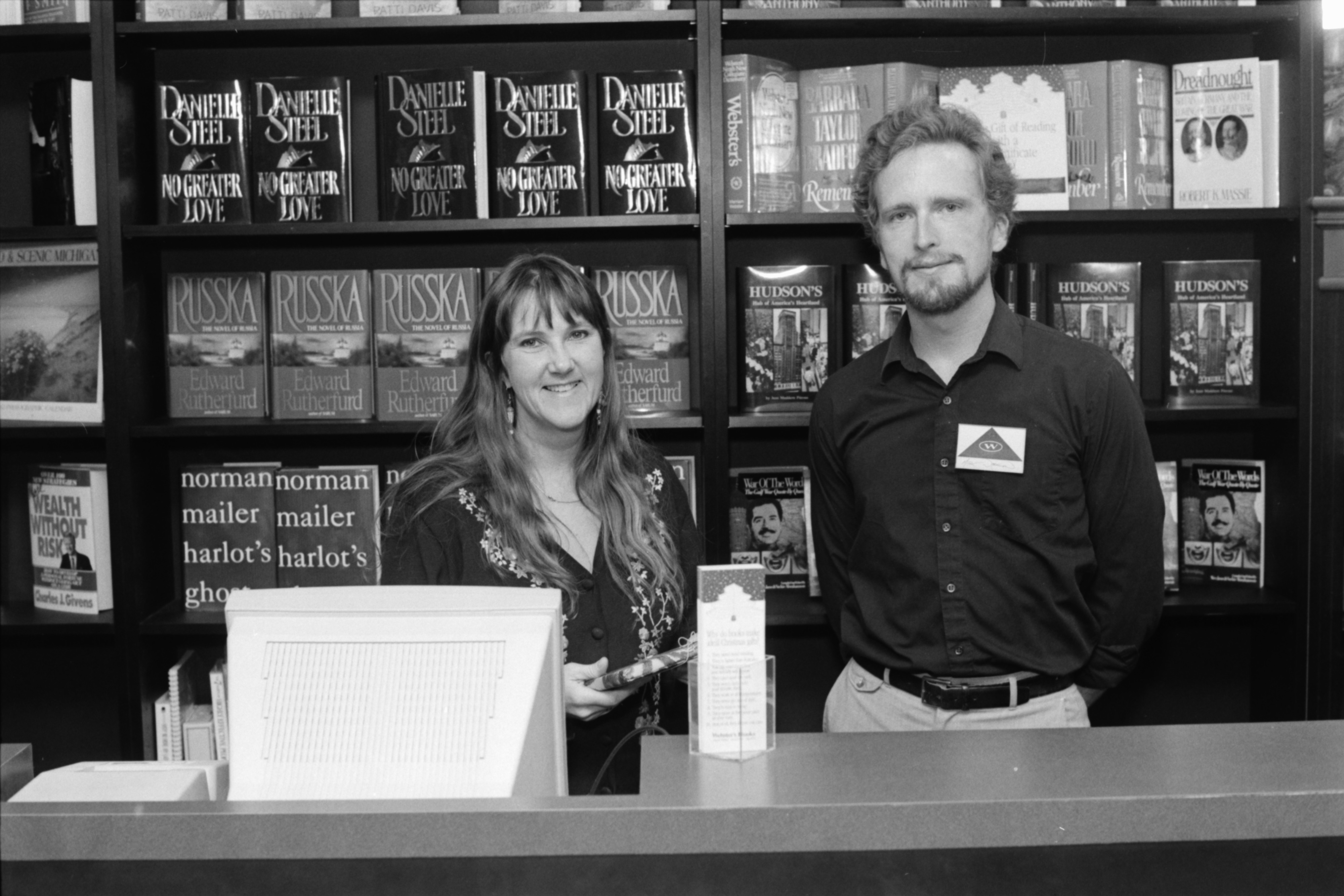 Staff at Webster's Bookstore, 2607 Plymouth Rd, December 1991 image
