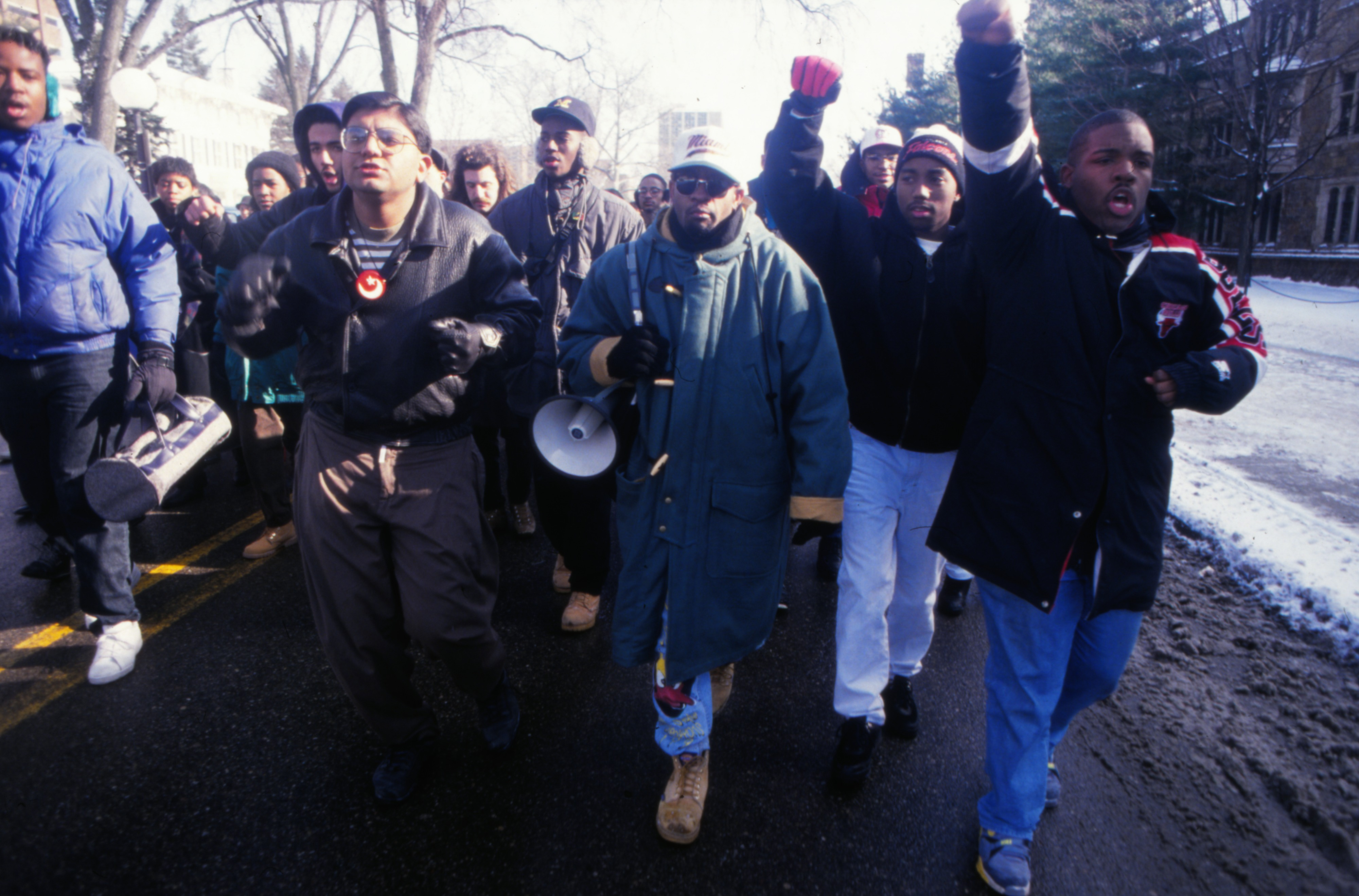 Unity March at the University of Michigan, MLK Day, January 20, 1992 image
