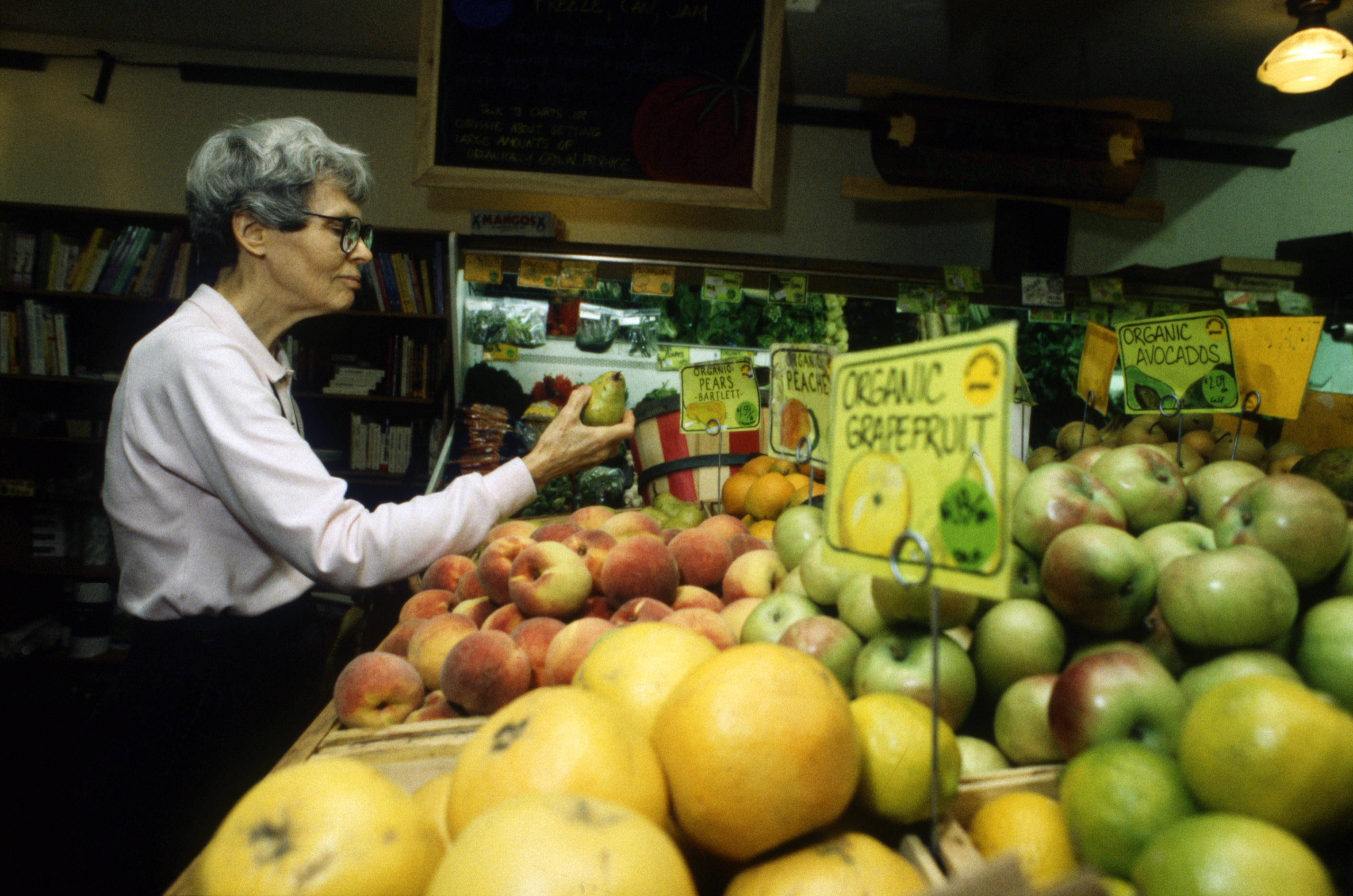 Dr. Paula Davey Shops At The People's Food Co-op, September 22, 1991 image