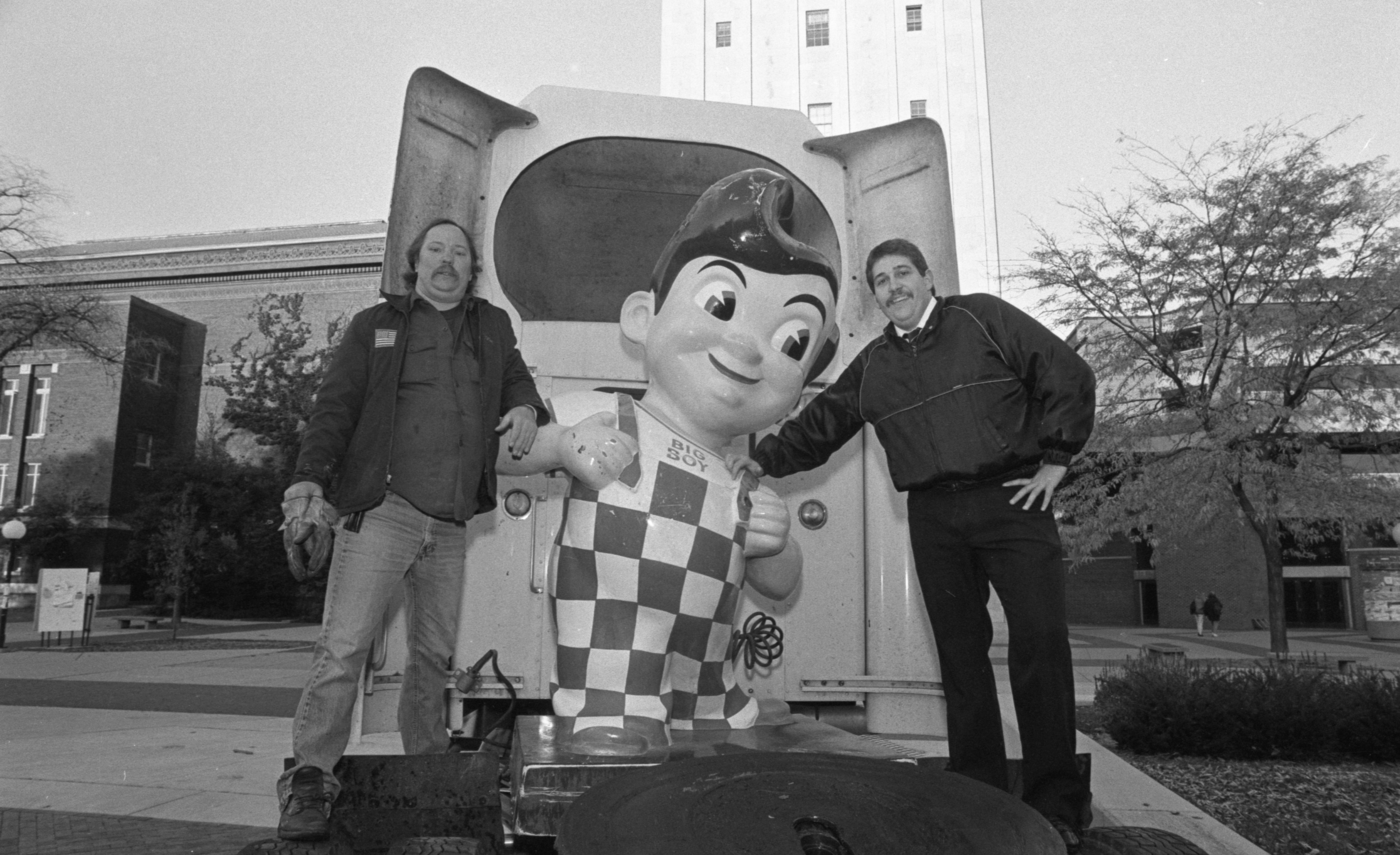 Stolen Big Boy Statue Recovered From The University Of Michigan Campus, October 1991 image