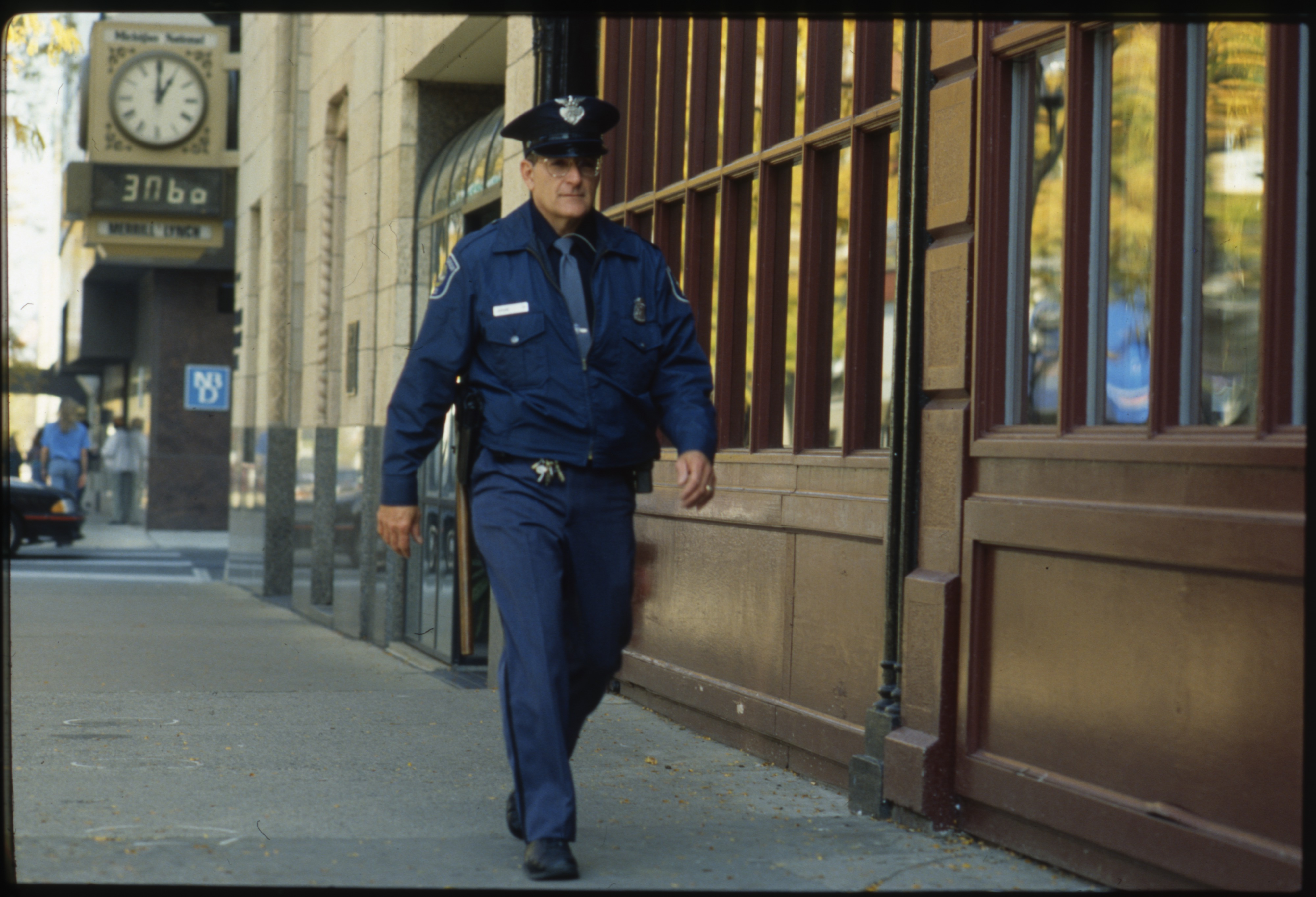 Downtown Ann Arbor Beat Cop Phil LaVigne Keeps Up the Pace On Main, October 1991 image
