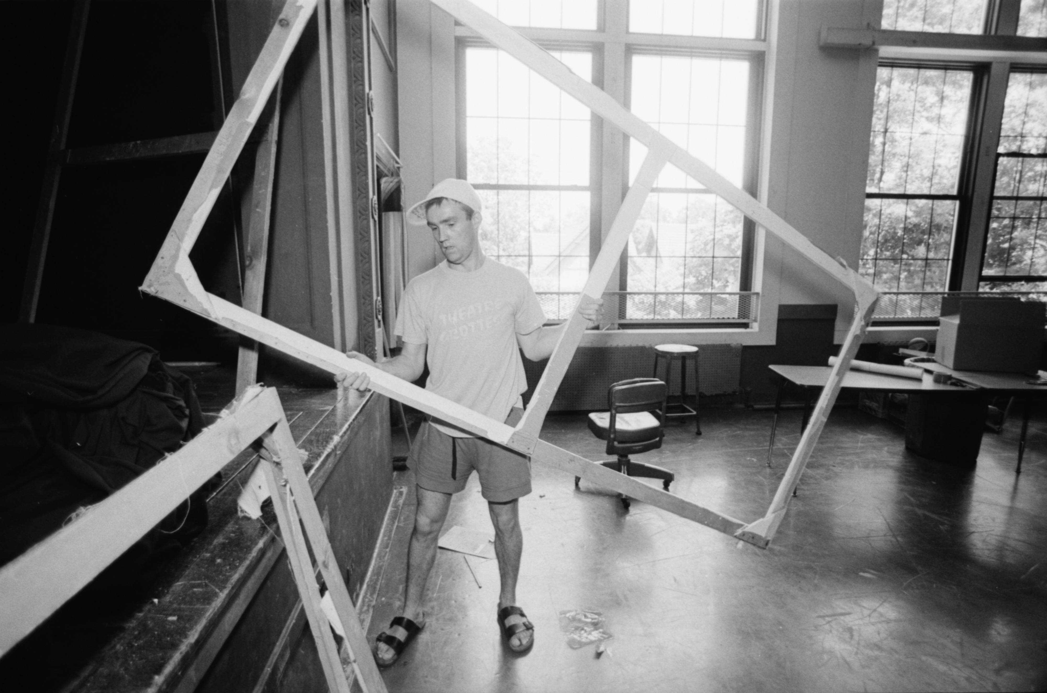 Malcolm Tulip Clears Community High School Theater for Renovations, June 1991 image