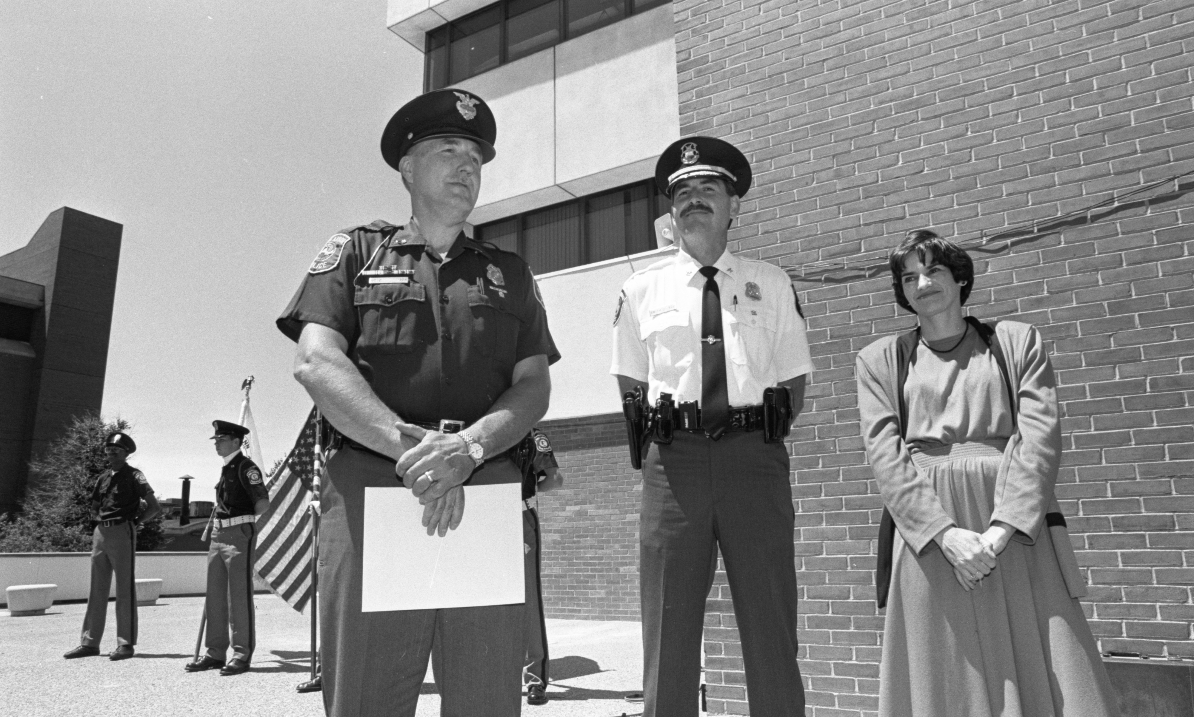 Sergeant Dennis Betz Honored At Ann Arbor Police Department Awards Ceremony, June 1991 image