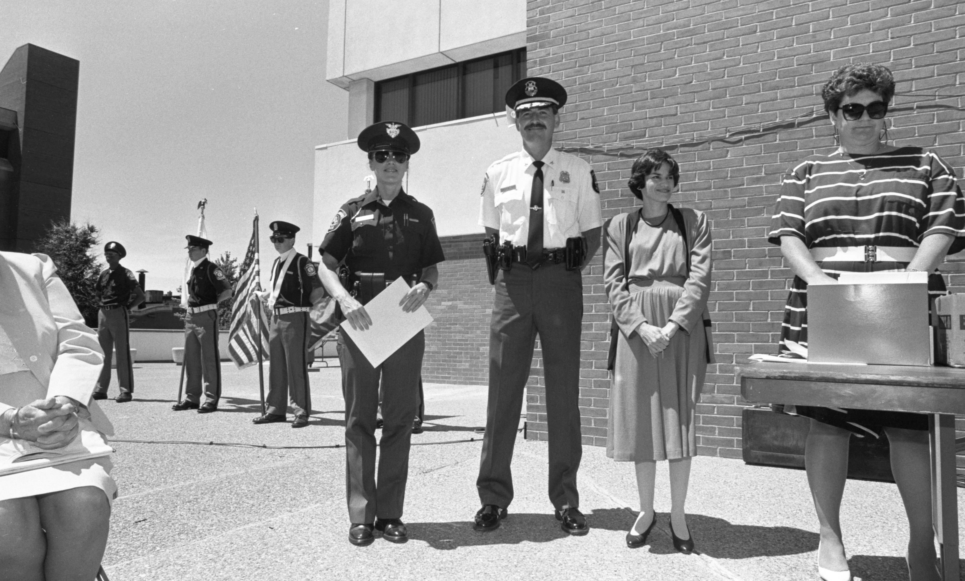 Officer Cynthia Avery Honored At Ann Arbor Police Department Awards Ceremony, June 1991 image