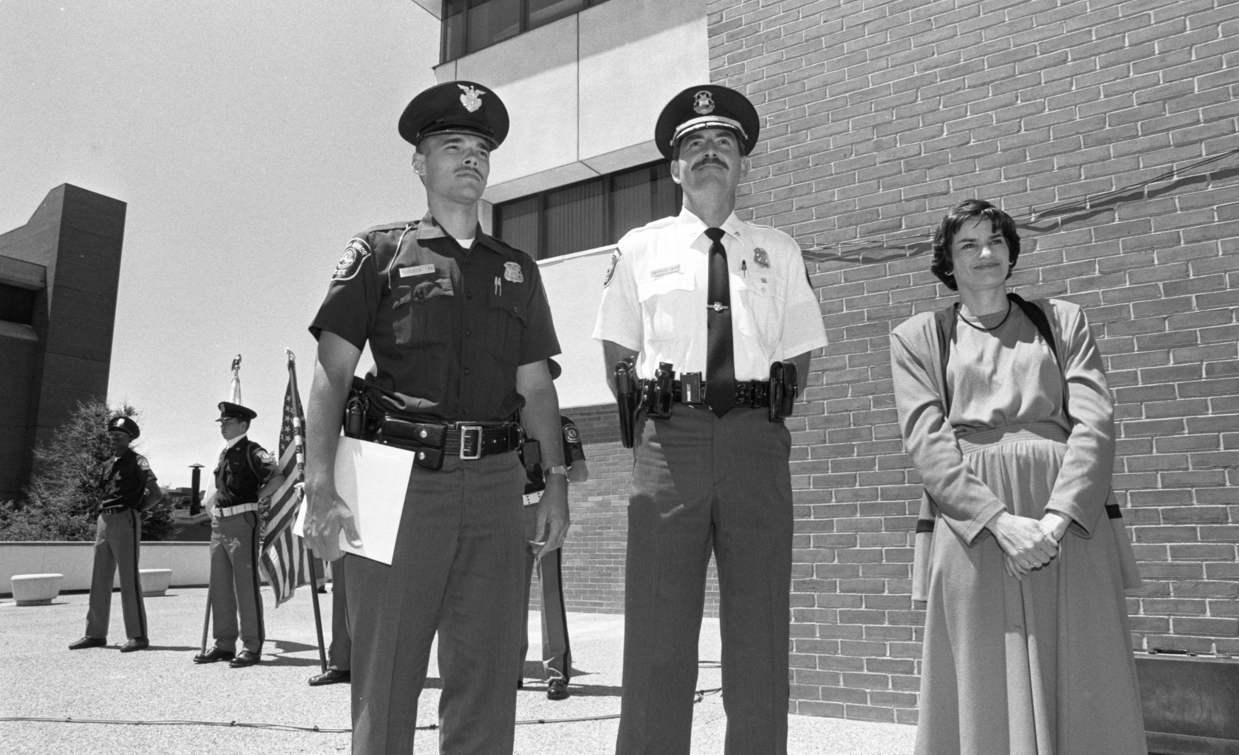 Officer Craig Flocken Honored At Ann Arbor Police Department Awards Ceremony, June 1991 image