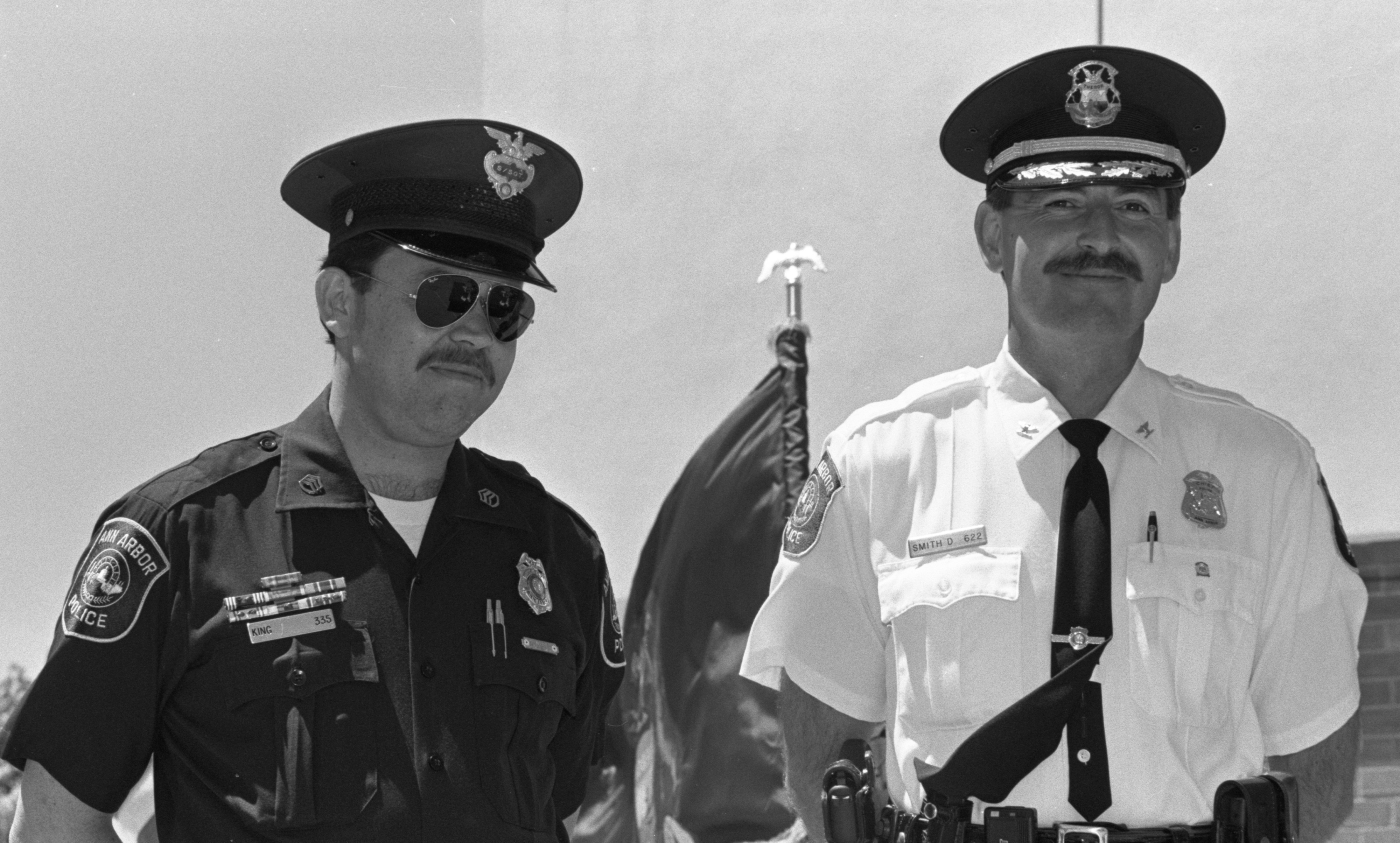 Sergeant John King Honored At Ann Arbor Police Department Awards Ceremony, June 1991 image