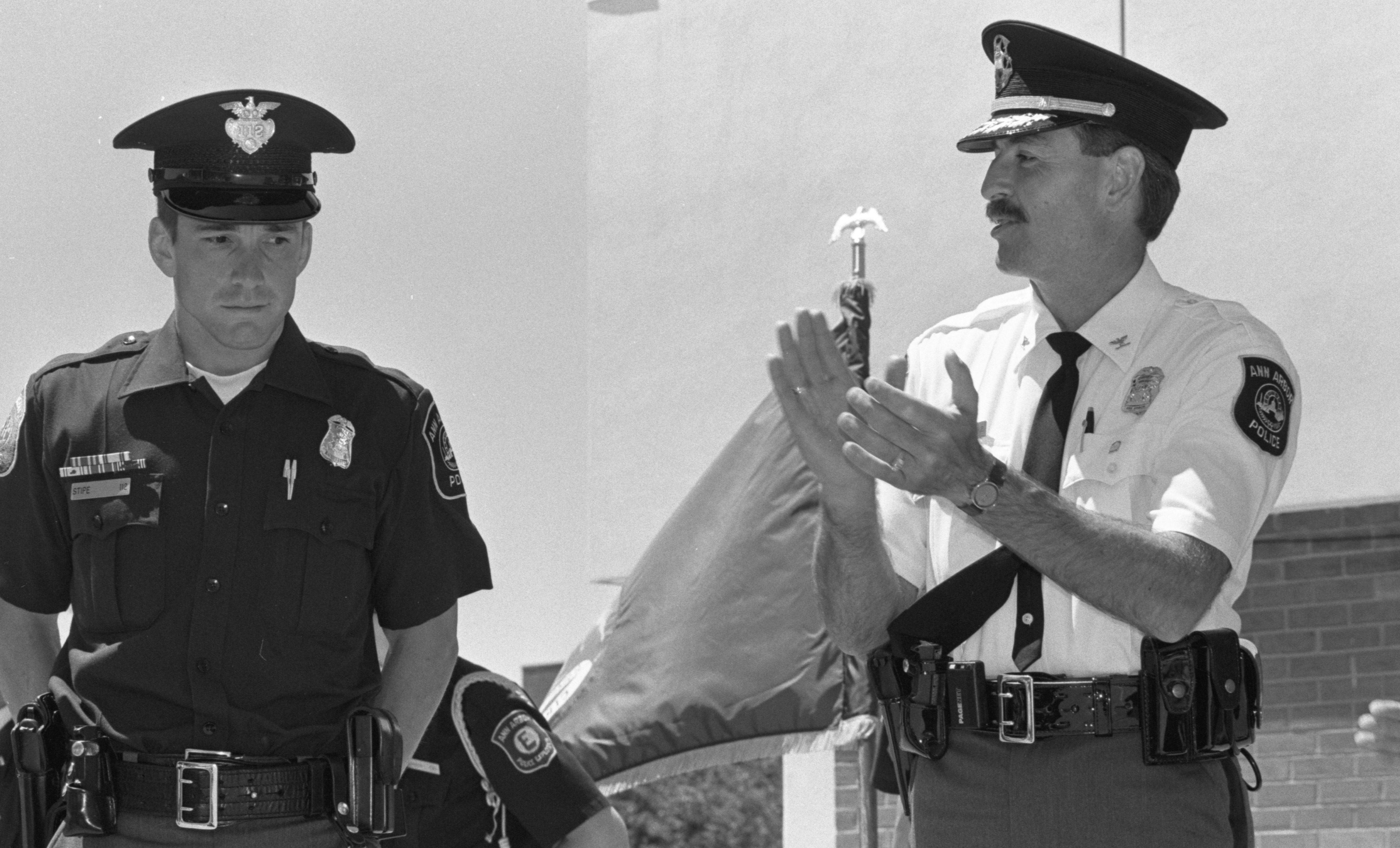 Officer Peter Stipe Honored At Ann Arbor Police Department Awards Ceremony, June 1991 image