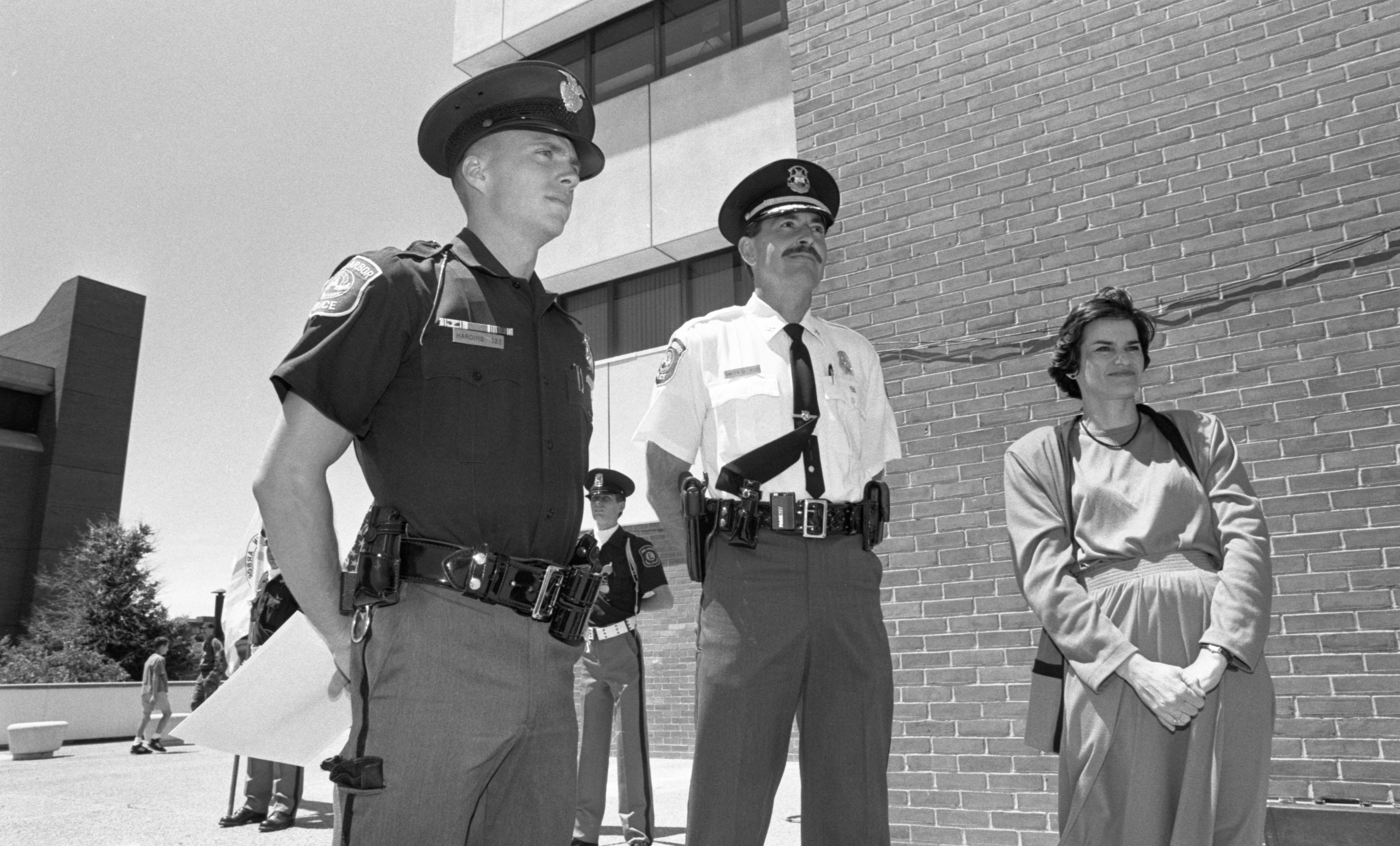 Officer Kevin Harding Honored At Ann Arbor Police Department Awards Ceremony, June 1991 image