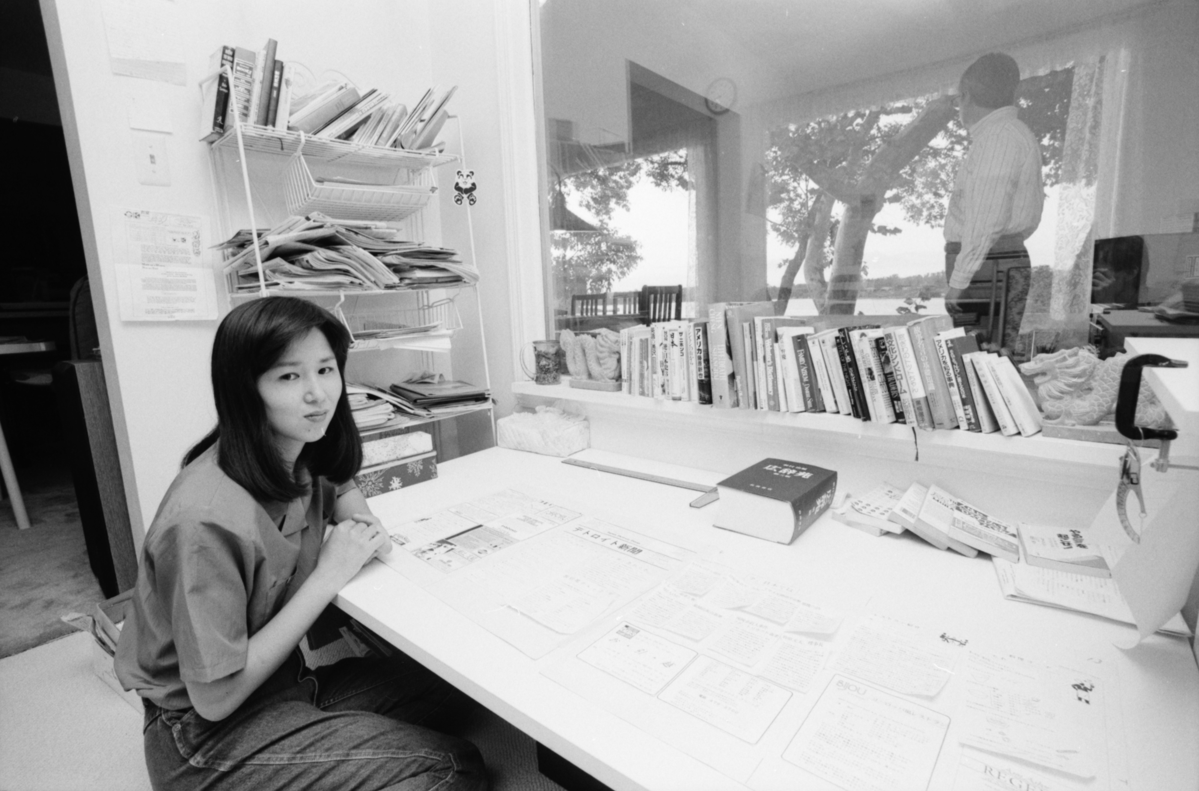 Miyuki O. Mascot, editor and publisher of the the Japan Detroit Press, July 1991 image