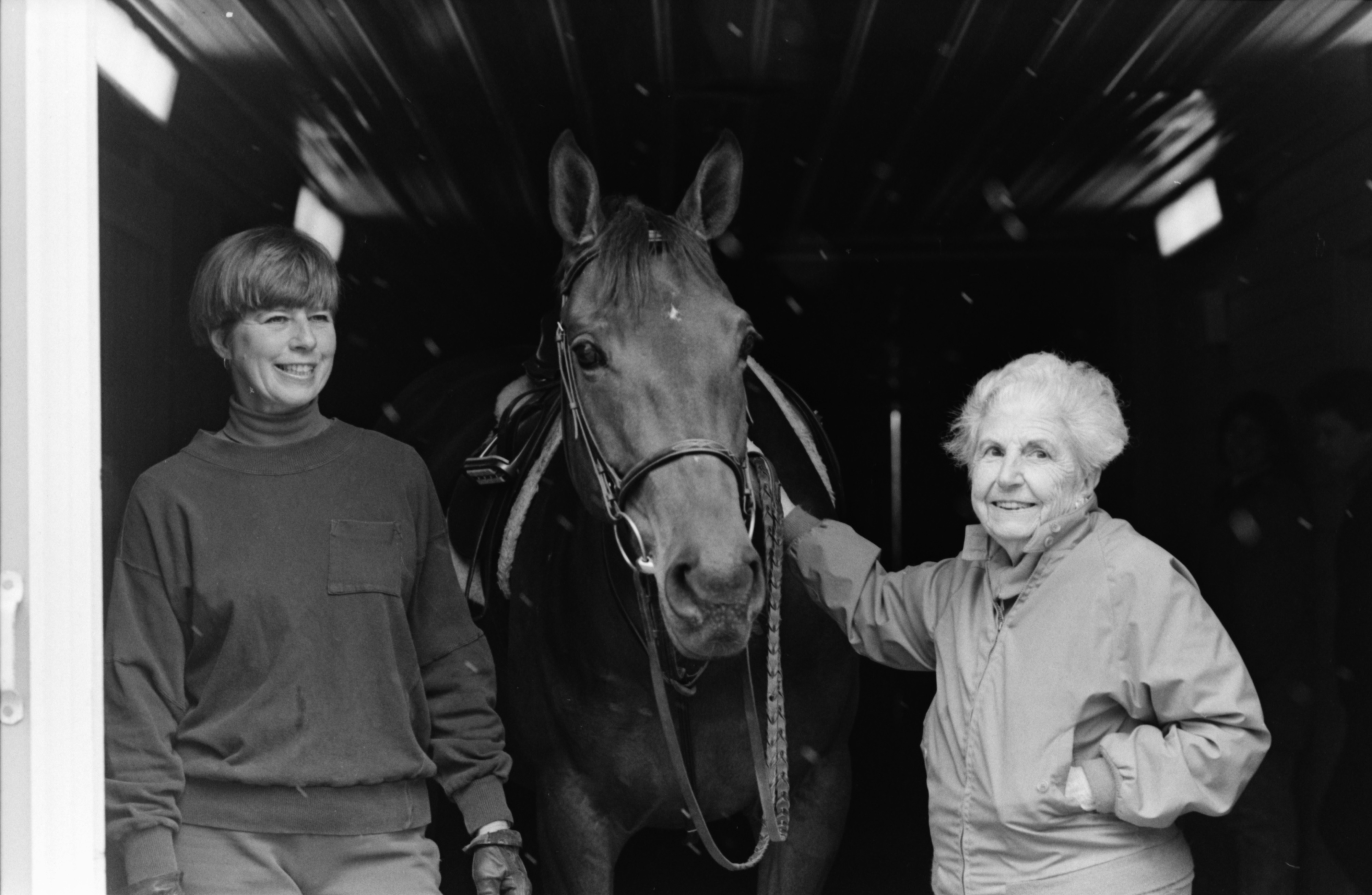 Ruth Everett and Cindy Carlson, with Elegant Jade, April 1991 image