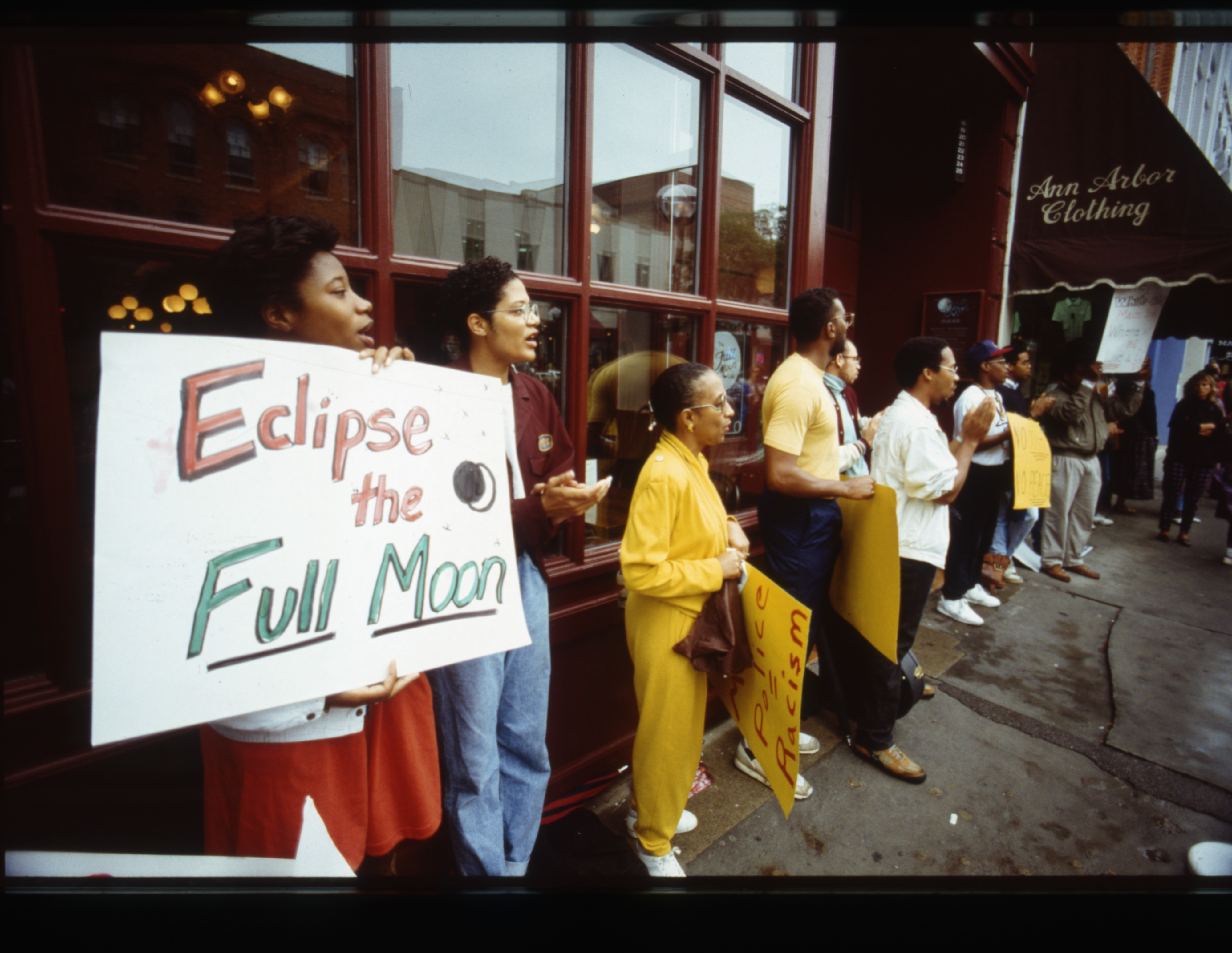 Protesters Outside Full Moon Restaurant, August 1990 image