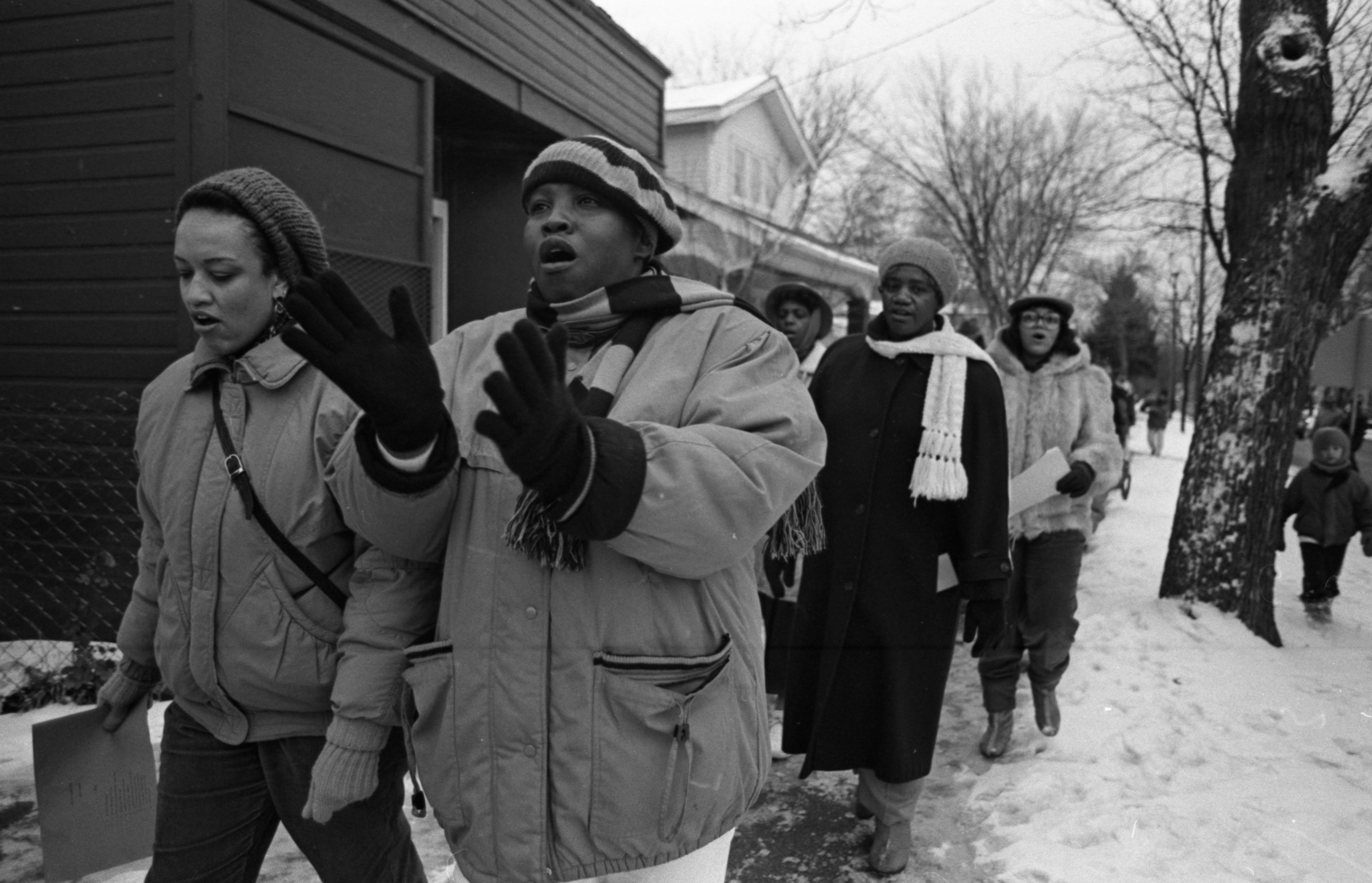 Second Baptist Church Annual Unity March To Honor Dr. Martin Luther King Jr., January 1991 image