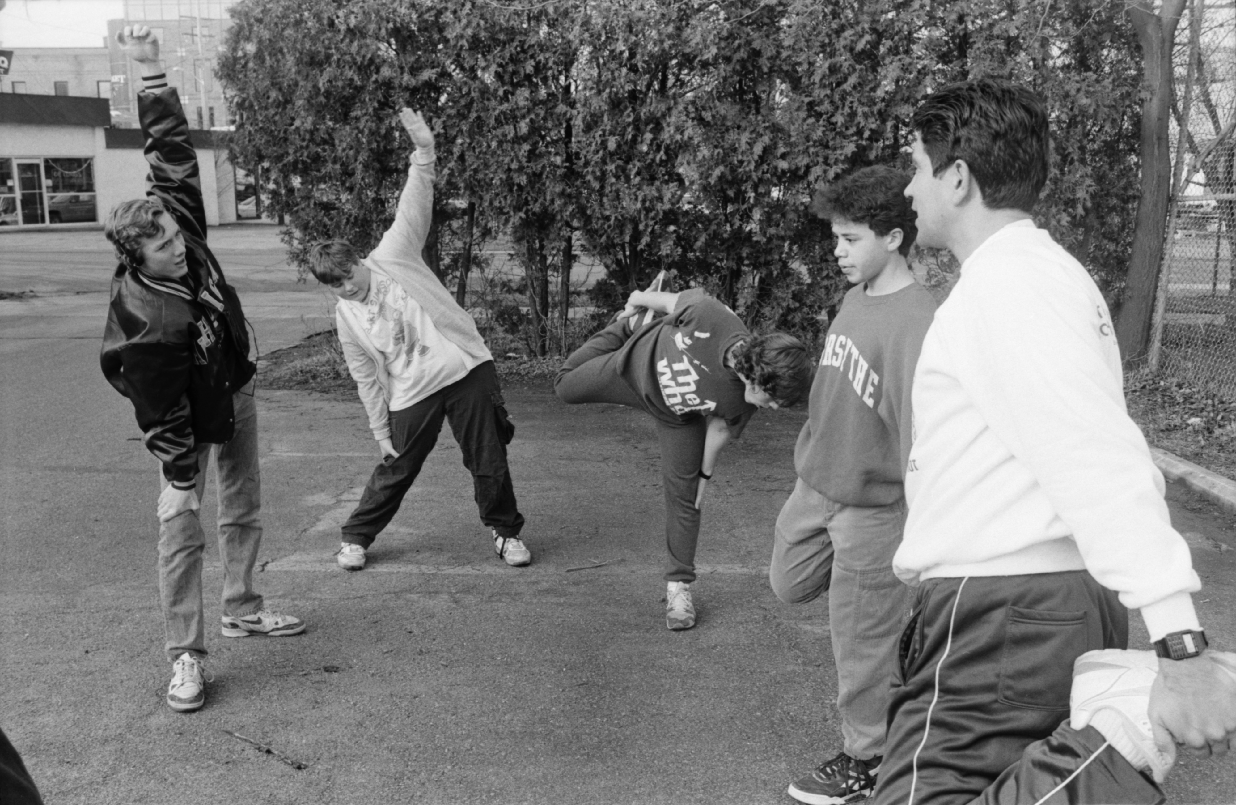 Elmo Morales and Students at Community High, December 1990 image