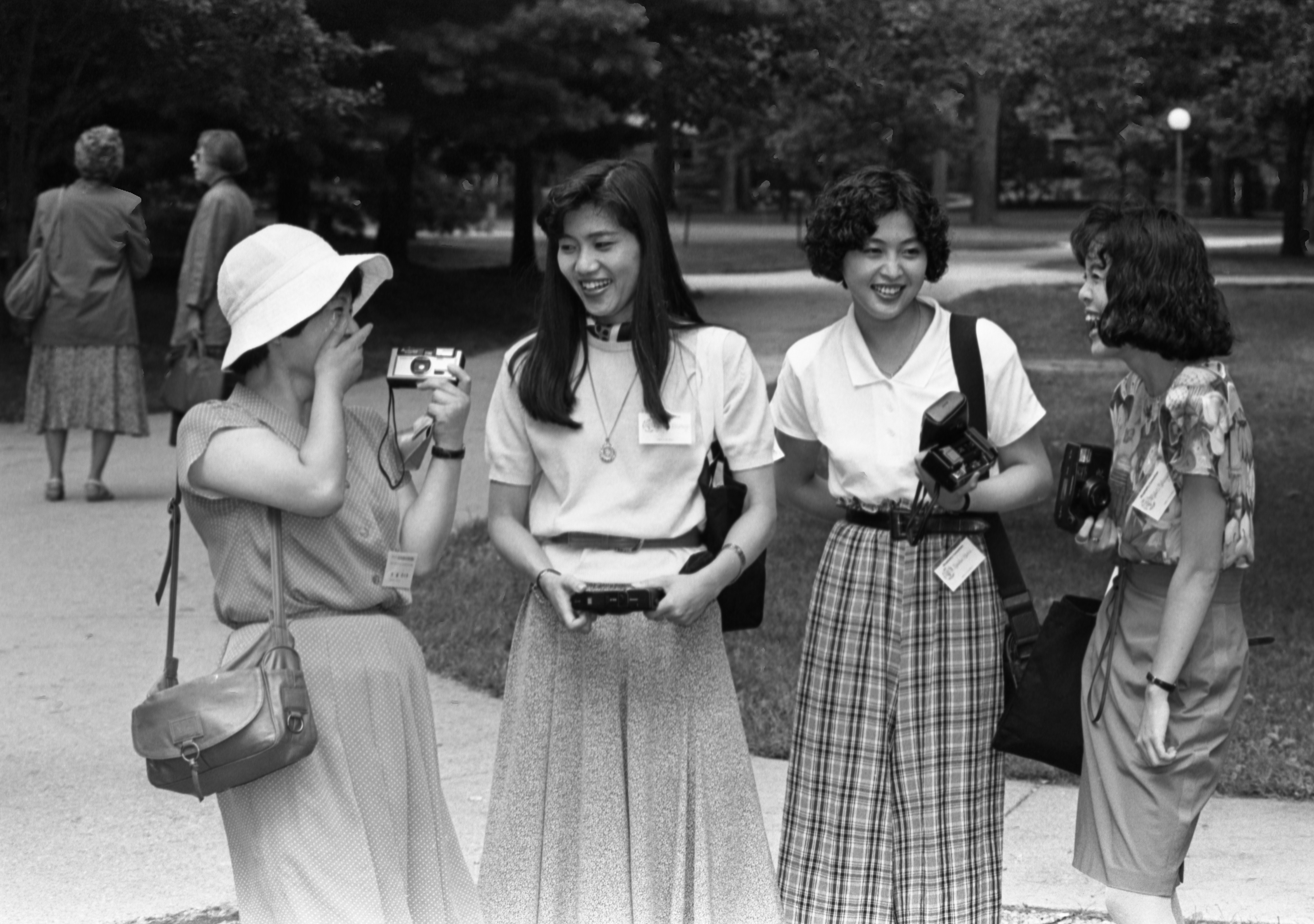Visitors From Hikone, Japan, On Tour Of Campus, August 25, 1990 image