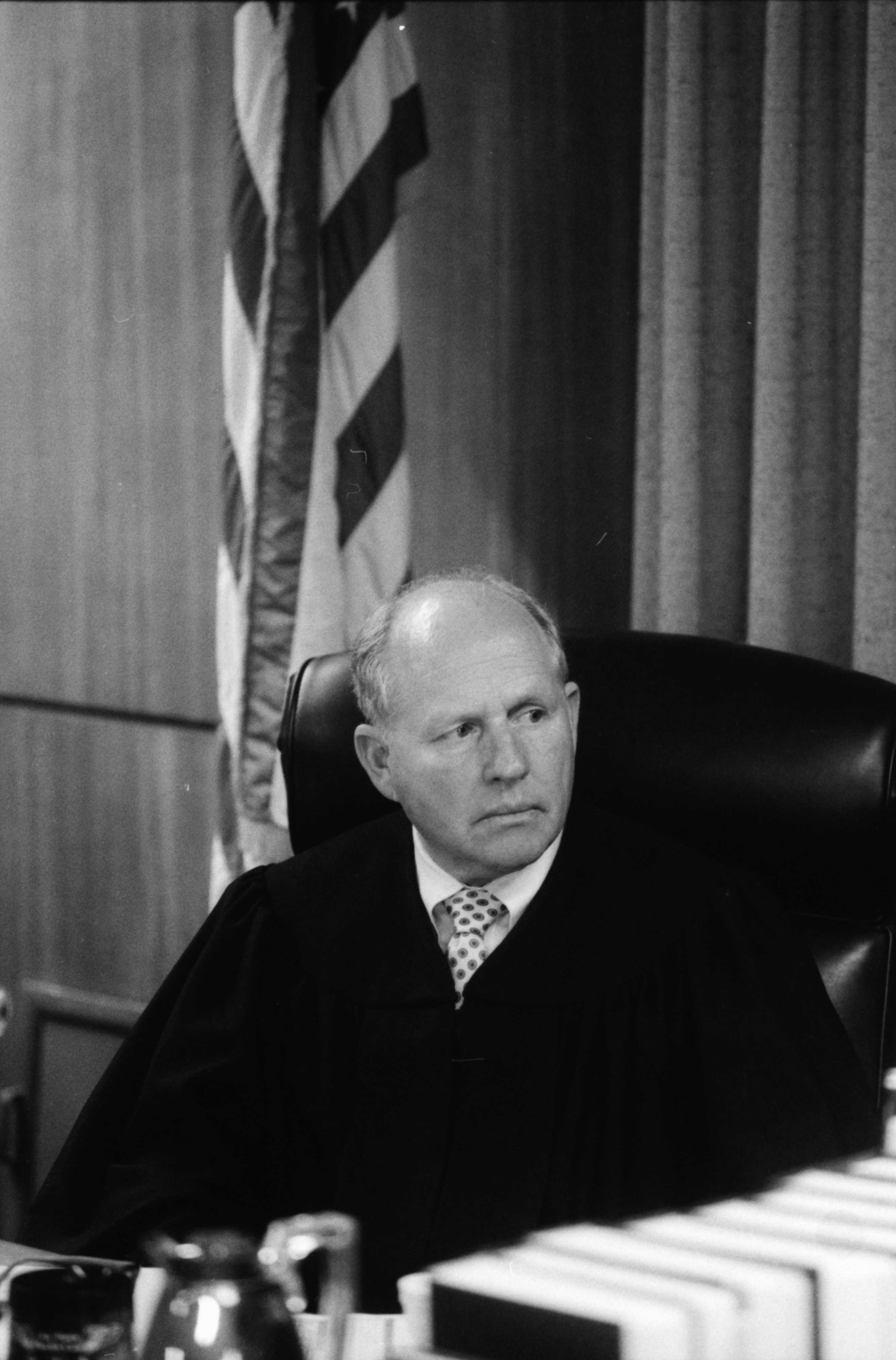 Judge Patrick J. Conlin at Gelman Sciences trial, August 1990 image