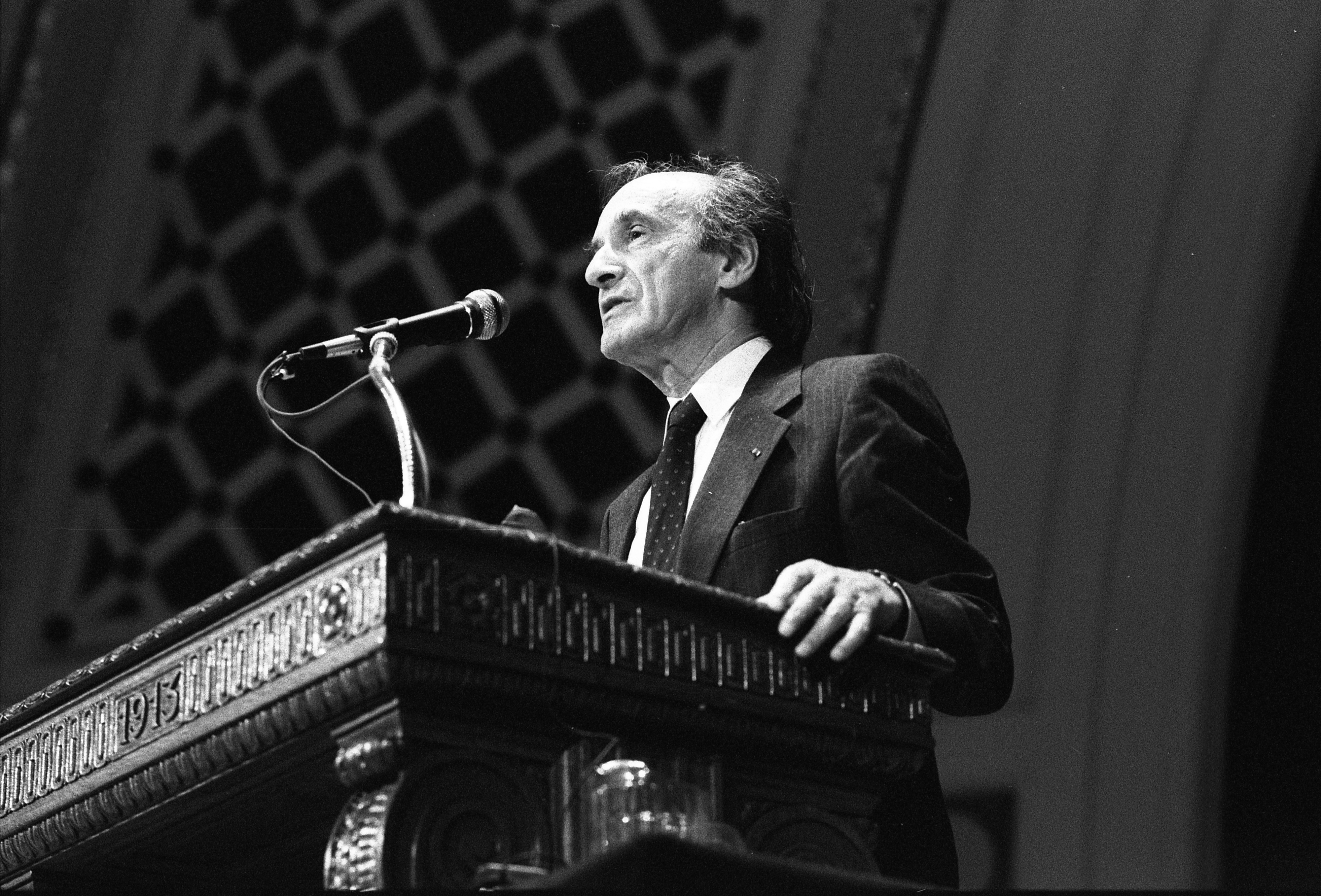 Elie Wiesel Speaking At Hill Auditorium, September 26, 1990 image