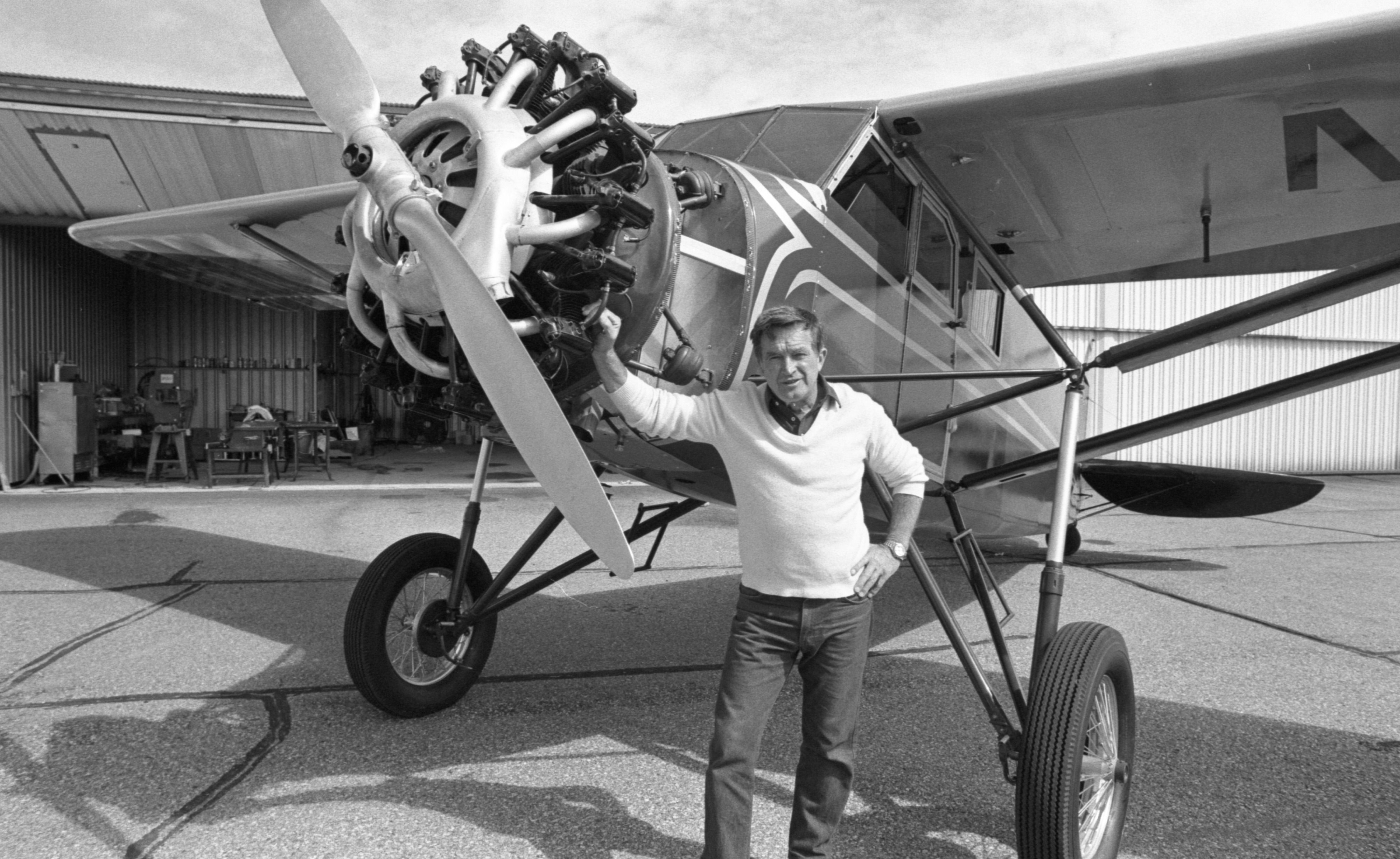Jim Mynning, Pilot, With His 1929 Stinson - September 1990 image