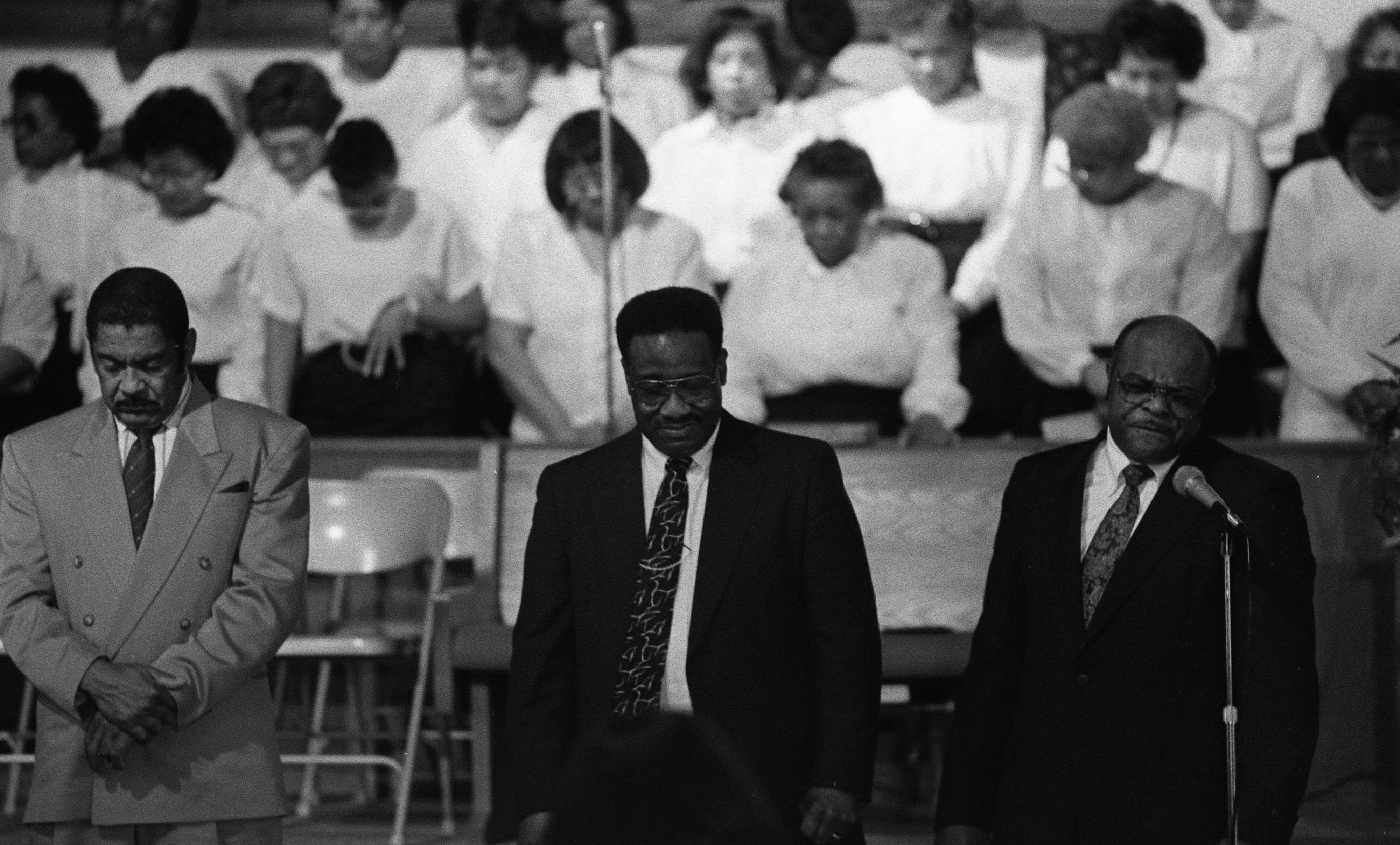 Rehearsal for 10th Annual Community Revival at Second Baptist Church, April 1992 image
