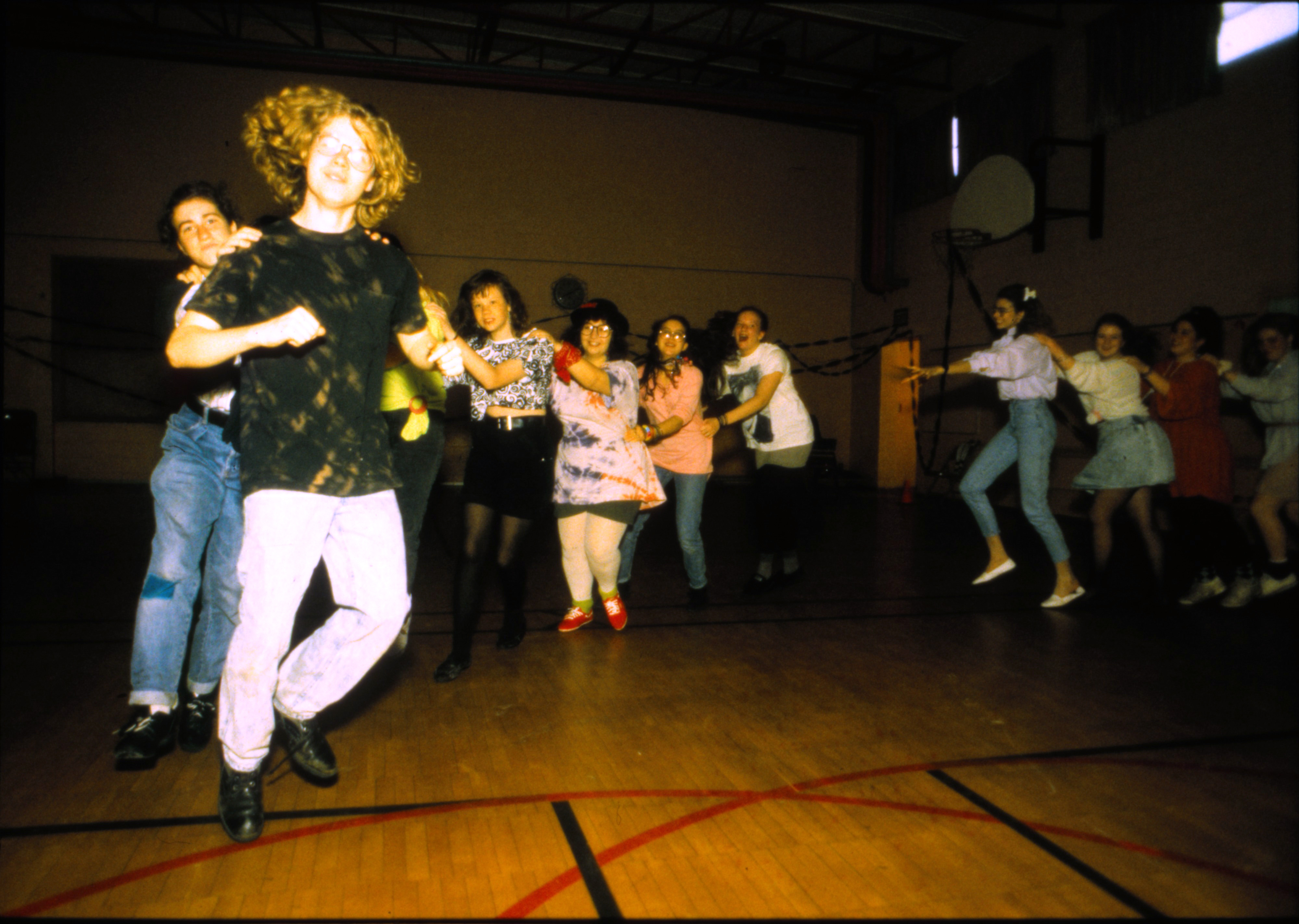 1980s dance at Community High School, April 1992 image