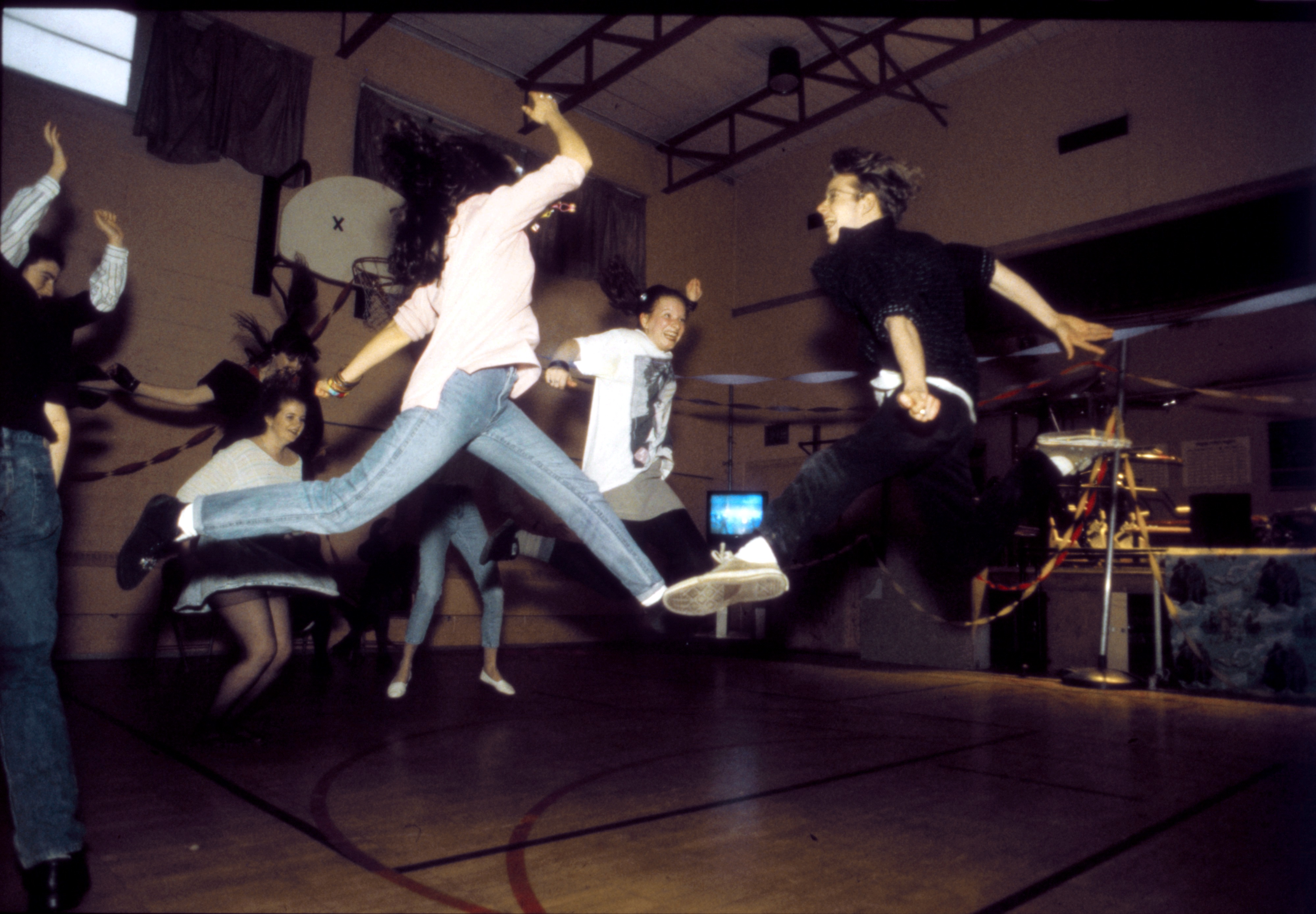 Community High students 'Jump' at an '80s Dance, April 1992 image