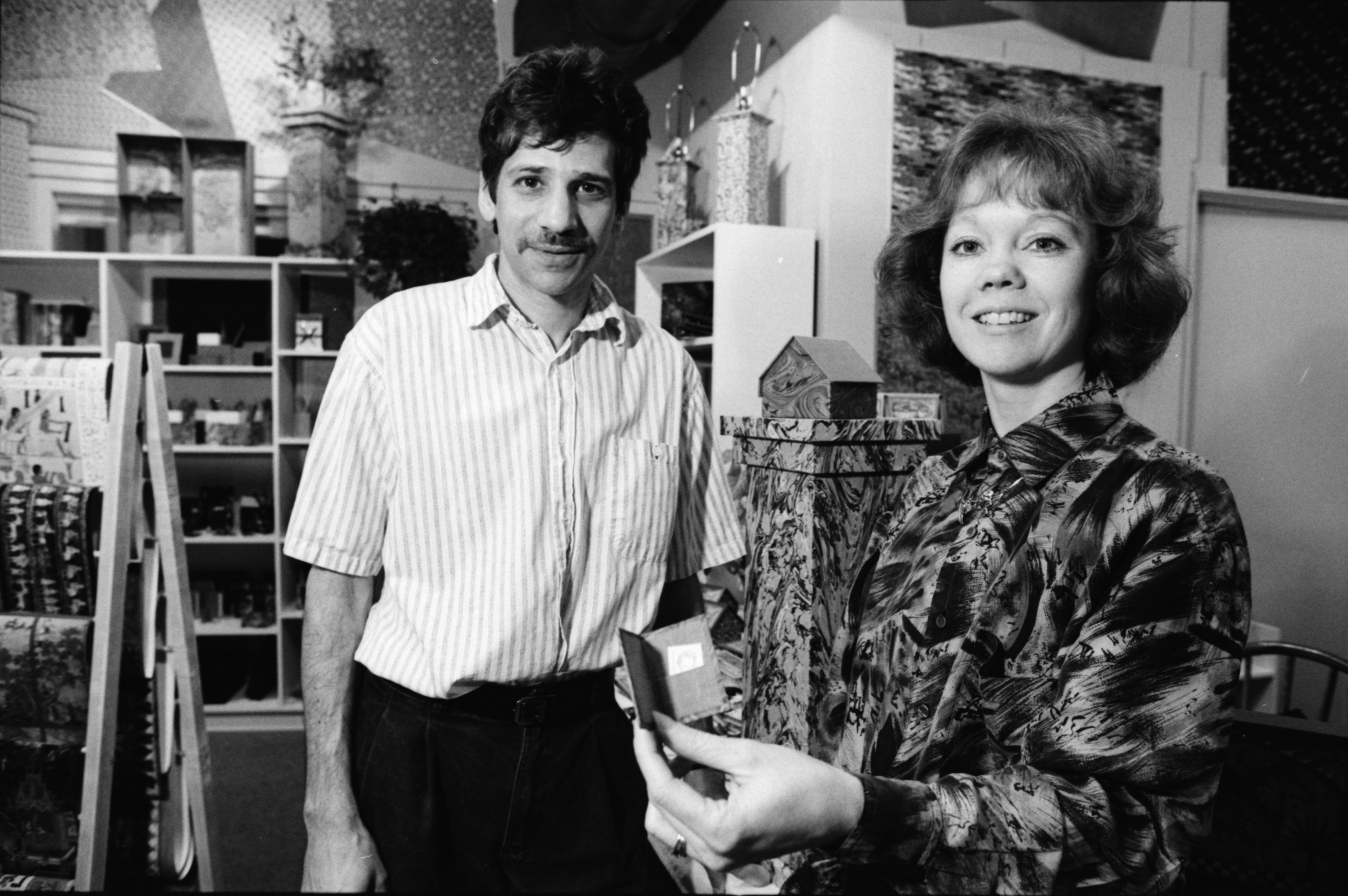 Tom and Cindy Hollander at Hollander's in Kerrytown, April 1992 image