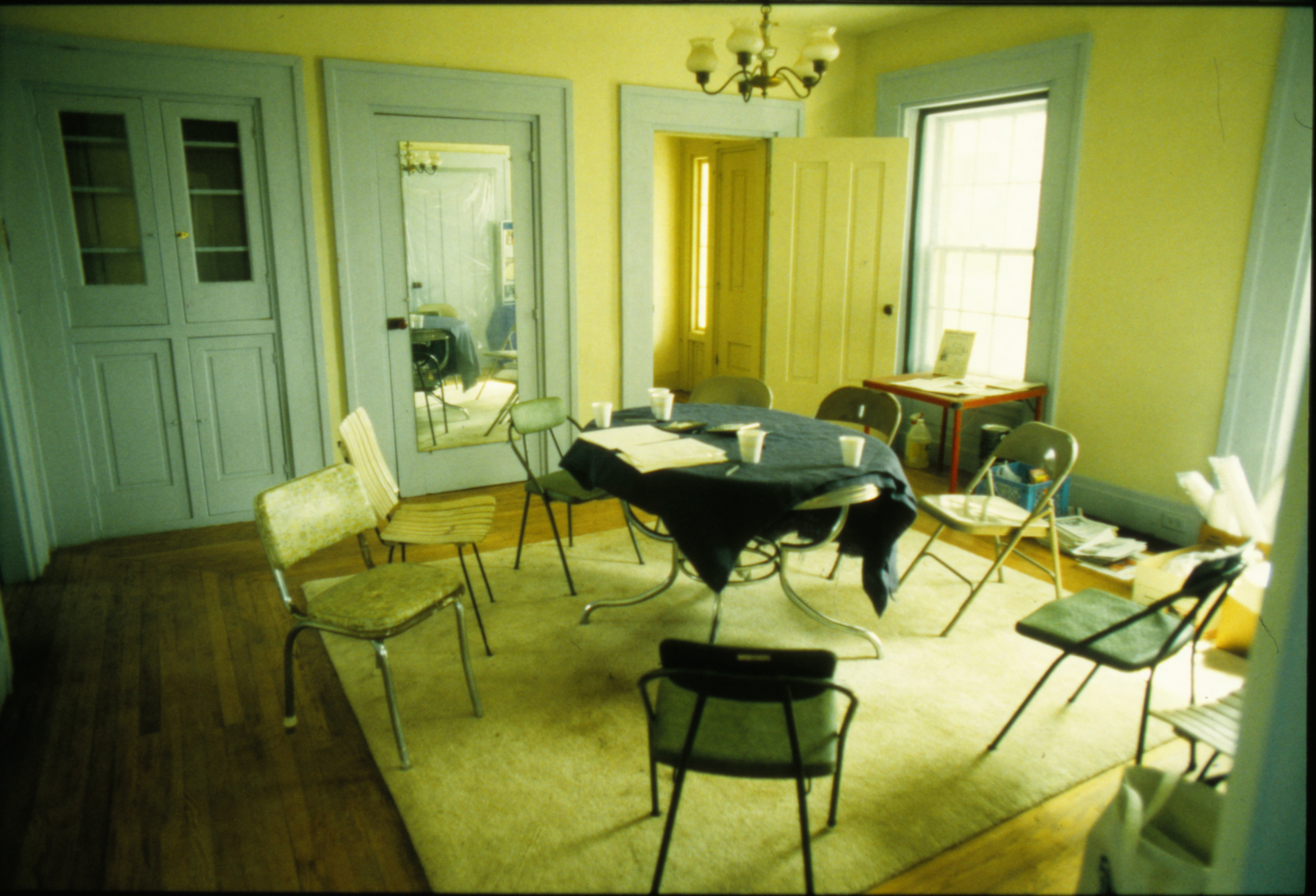 View of Dining Room During Renovation of Tefft House on Textile Road, March 1992 image