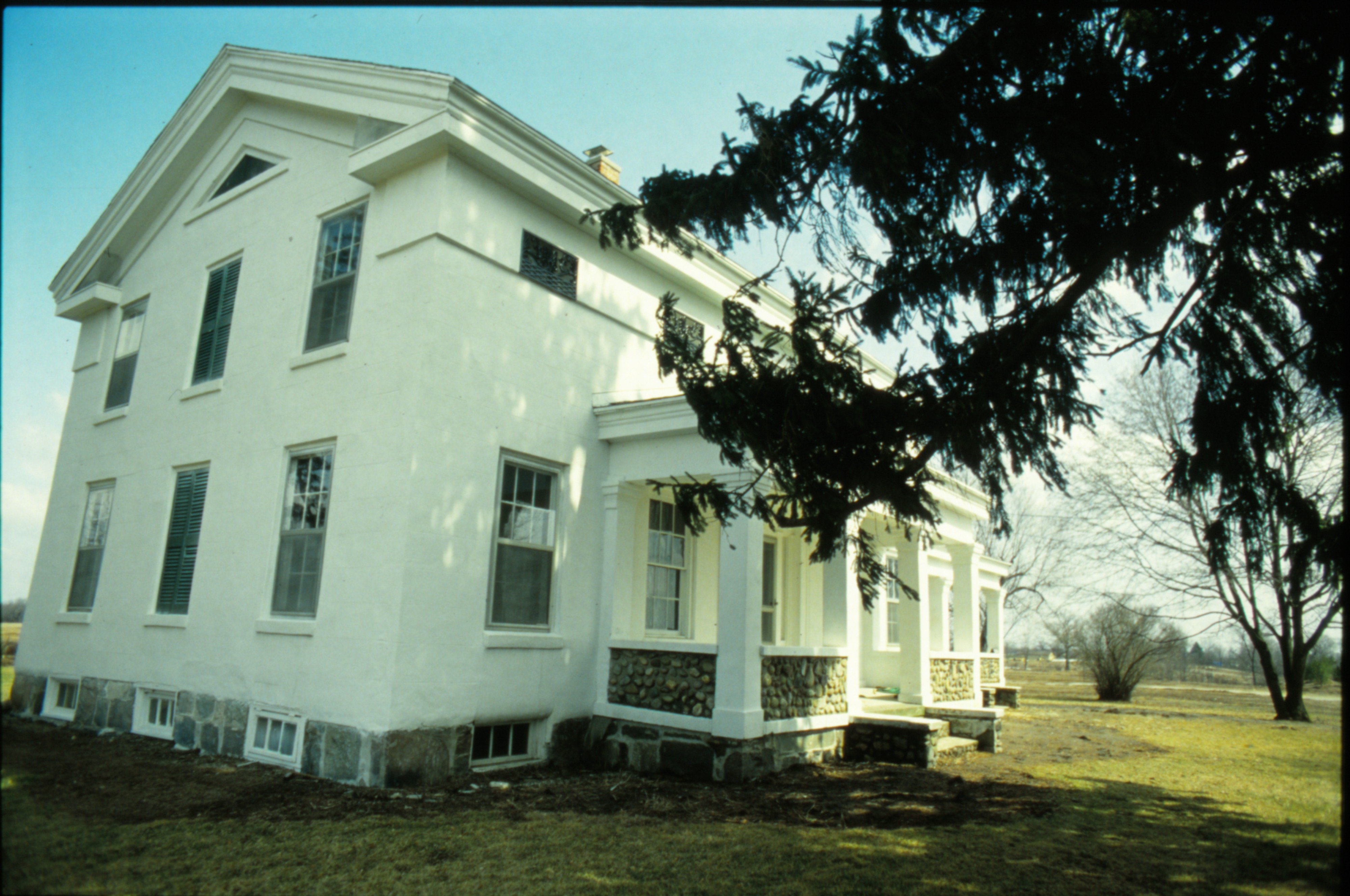 Exterior View of Tefft House During Renovation, March 1992 image