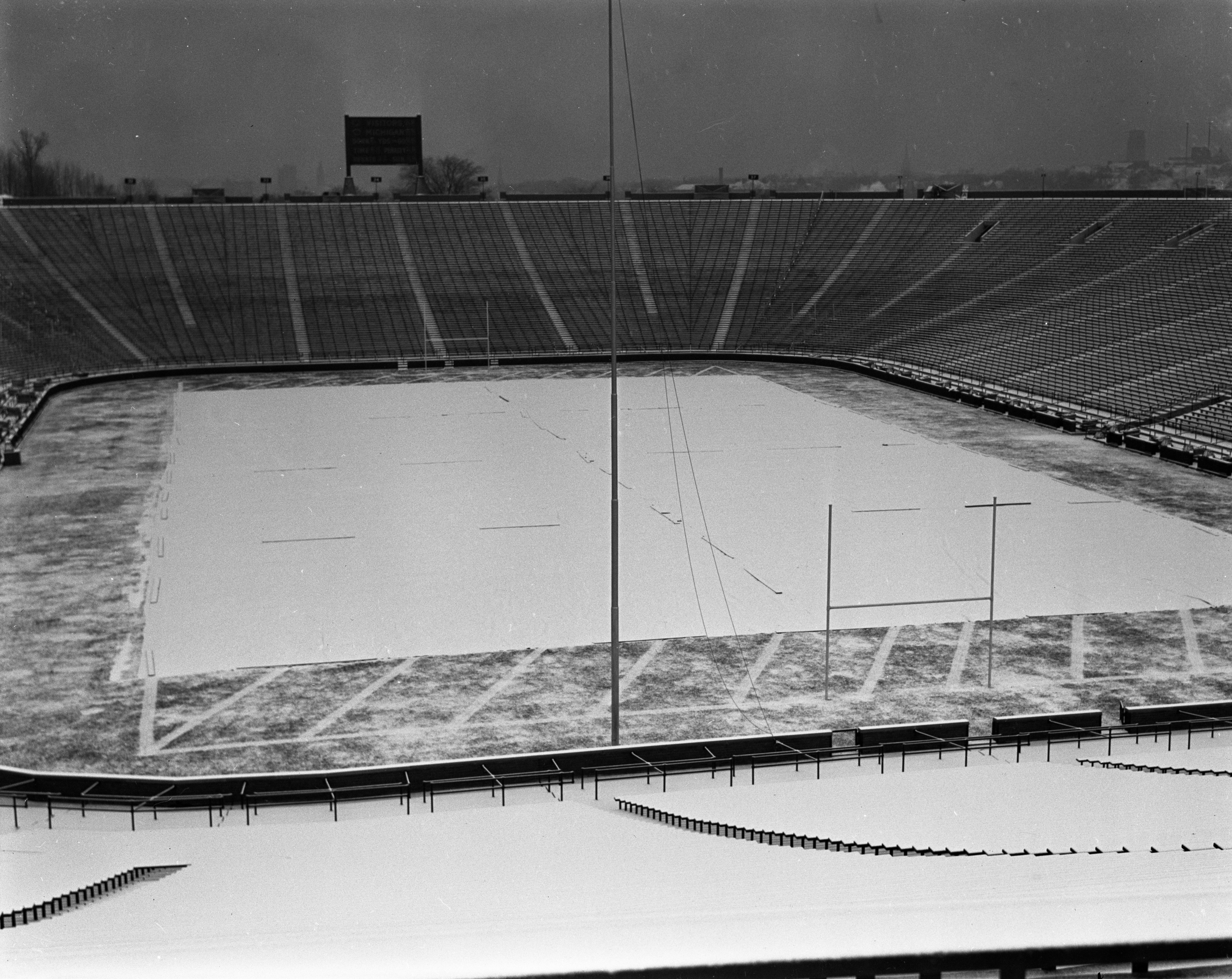 First Snow, Michigan Stadium, November 1937 image