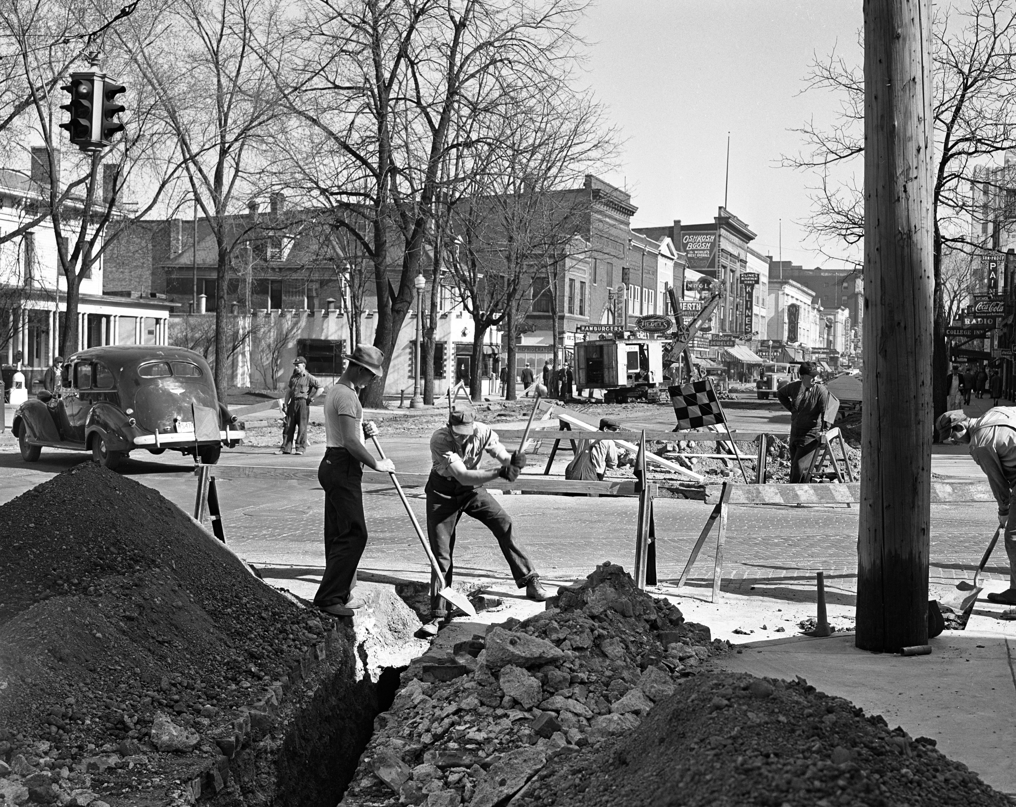 Removing Pavement on Main Street, April 1939 image