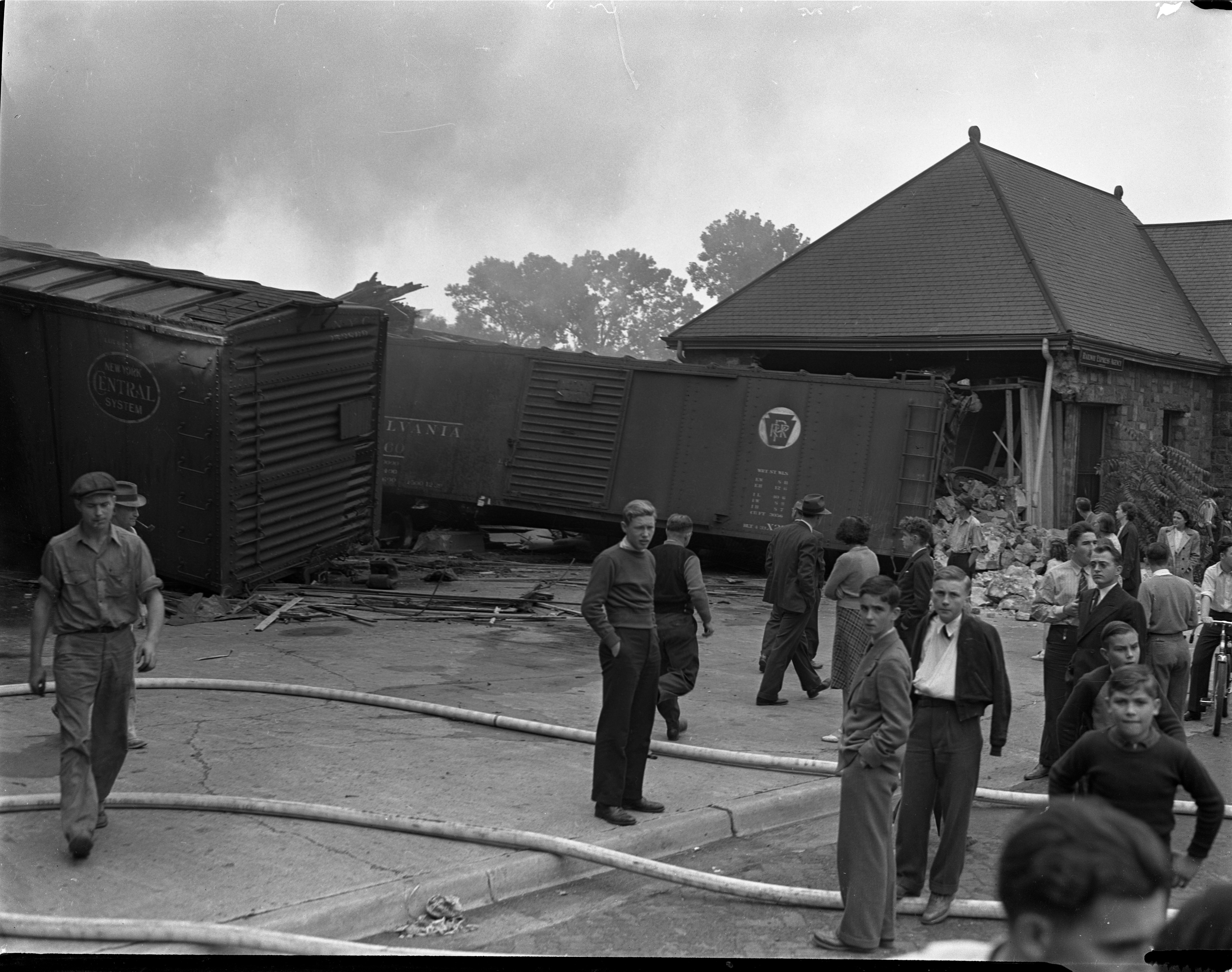 Train Wreck at Michigan Central Station, September 1940 image