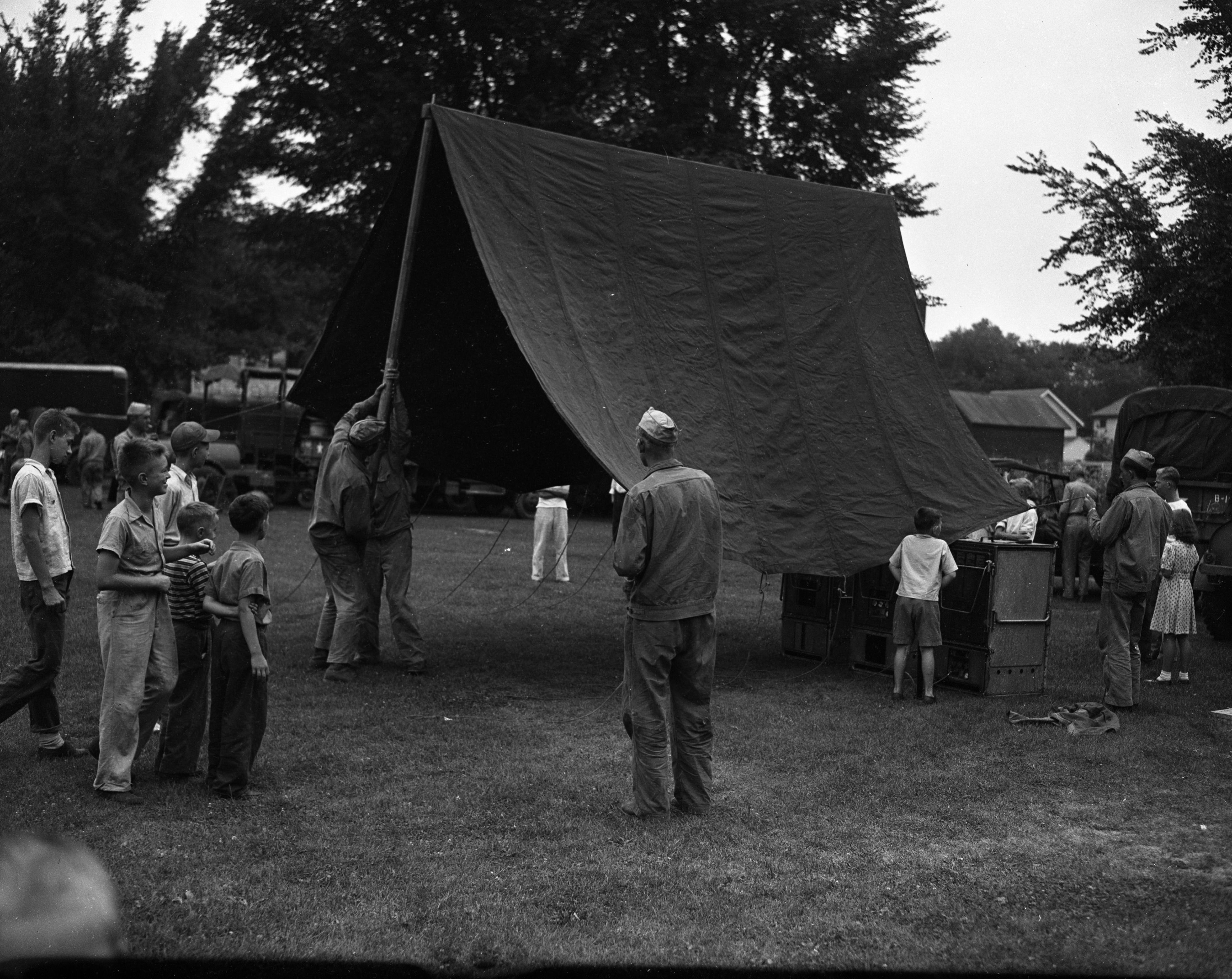U.S. Army Honors Labor, Industry & Agriculture: Camp at West Park, August 1943 image
