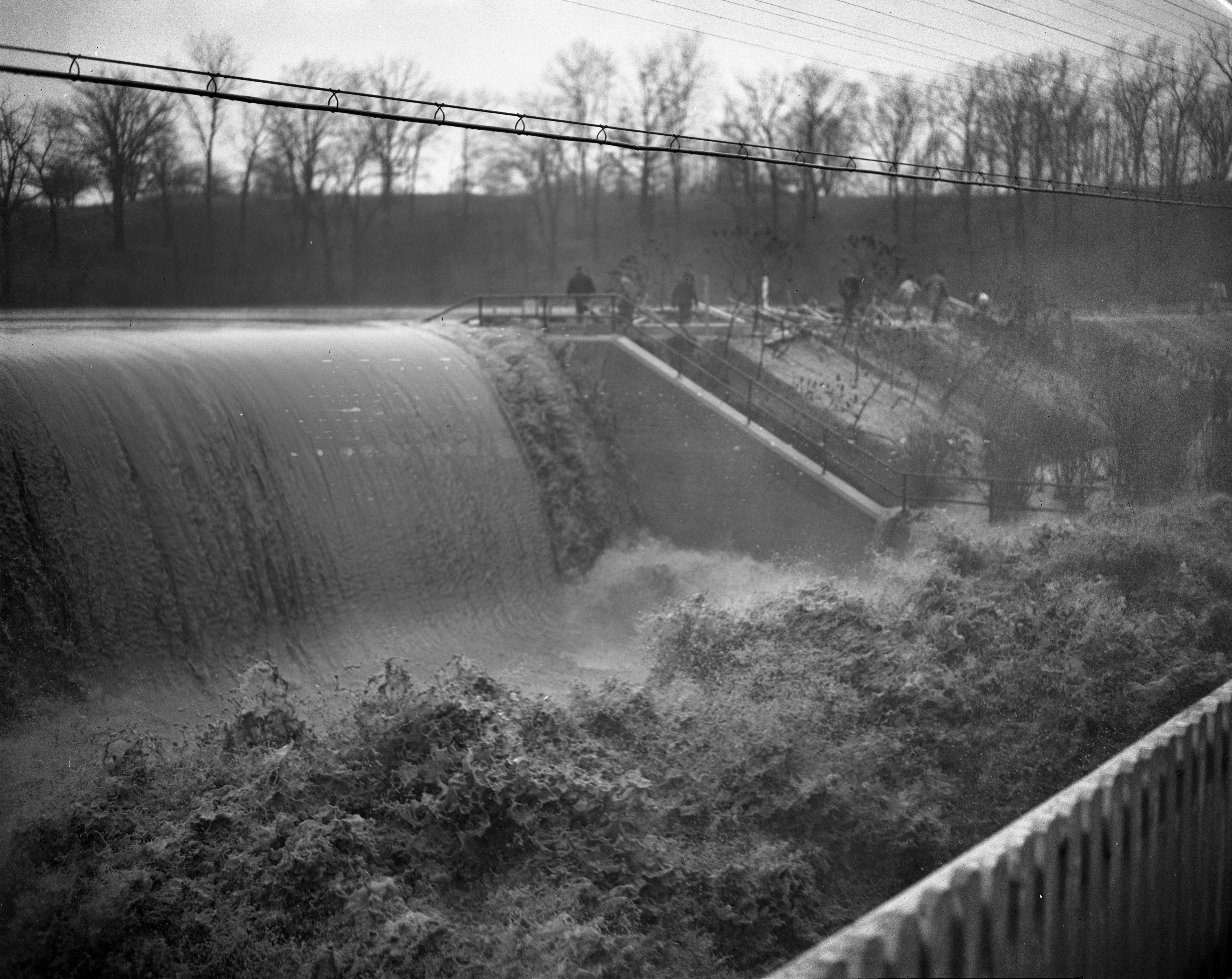 Saline Dam Nears Crest, April 1947 image