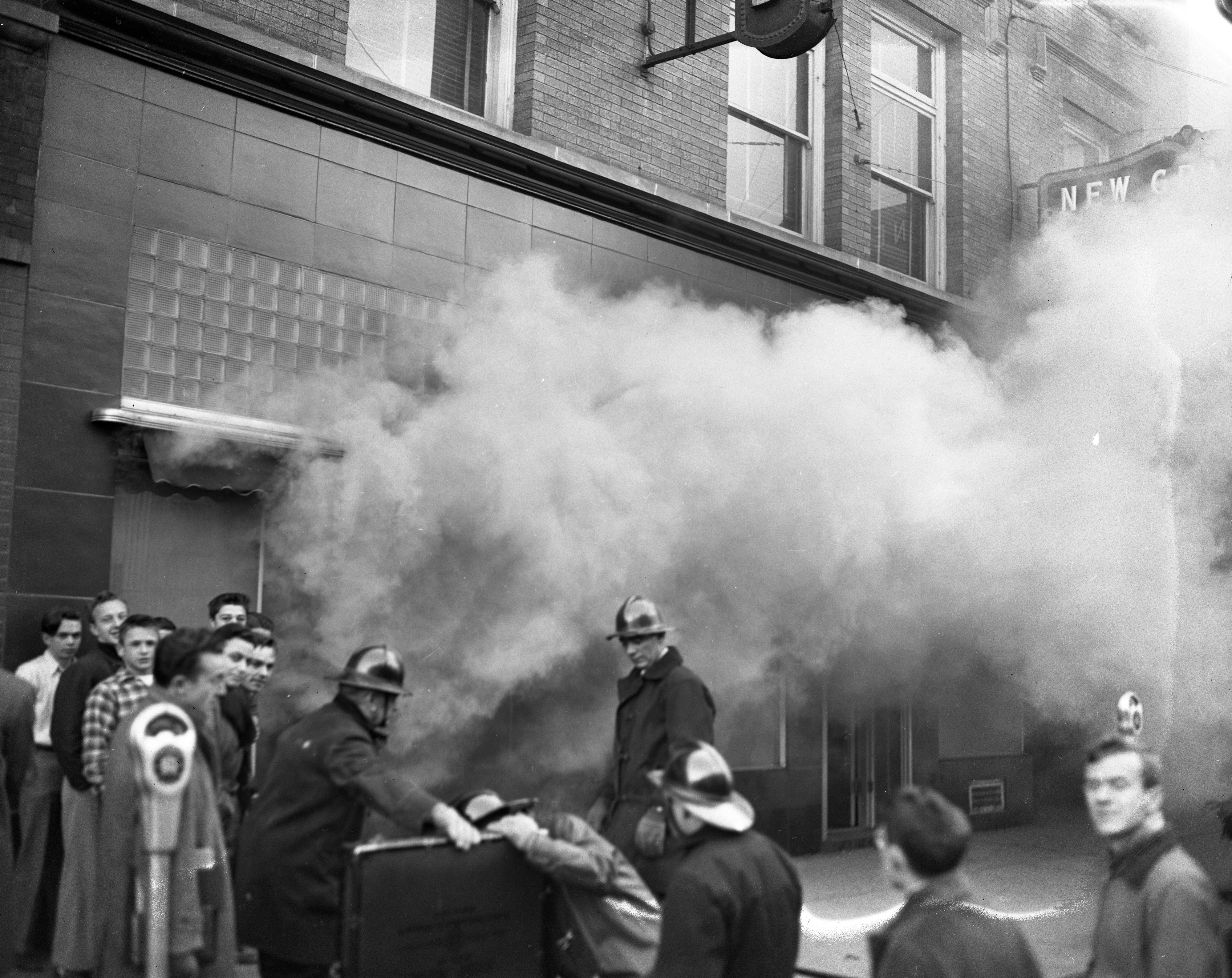 Flames Reach Underground At Wild & Co. Fire On State St, December 1947 image