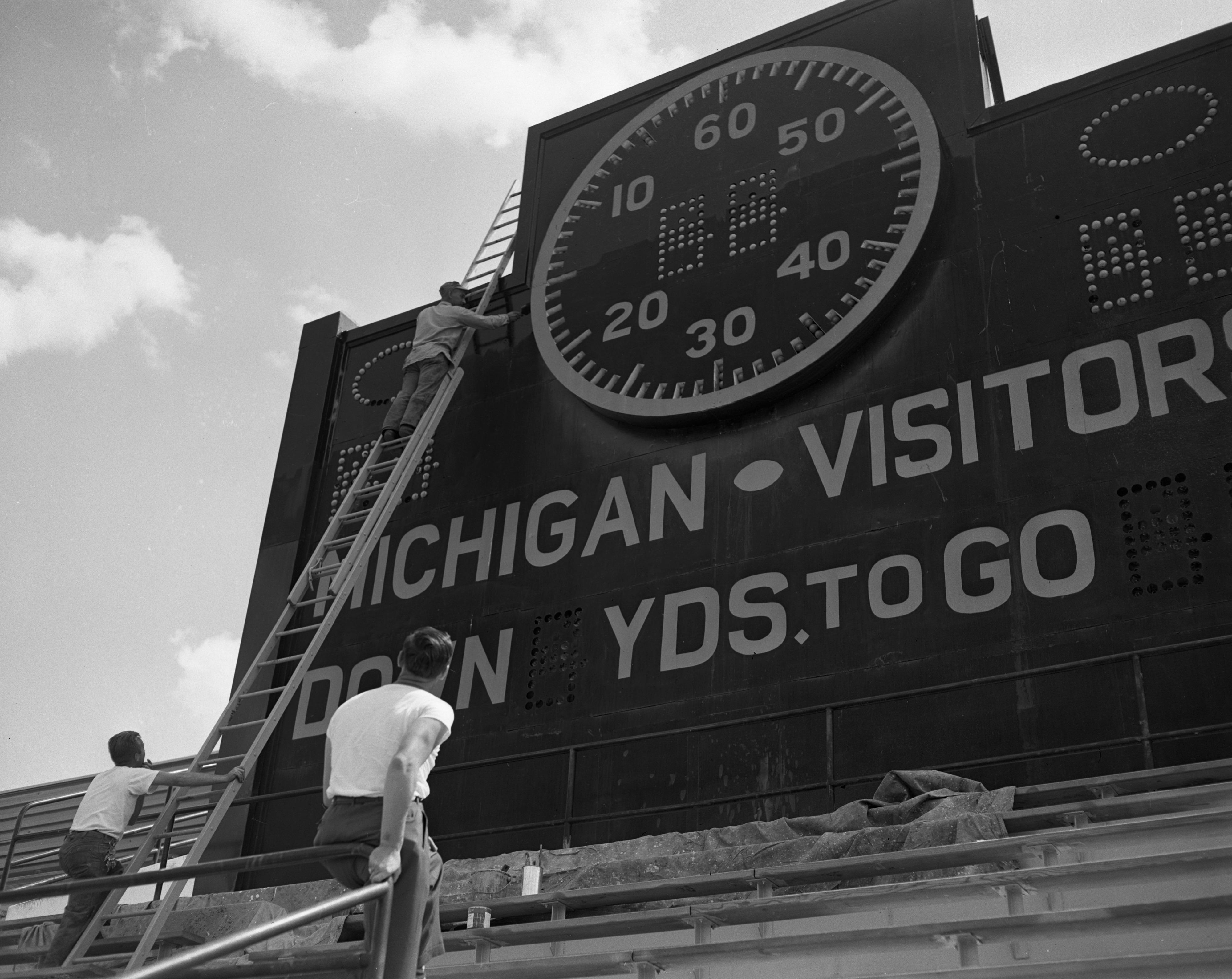 Image from Painting University of Michigan Stadium Scoreboard, 1952